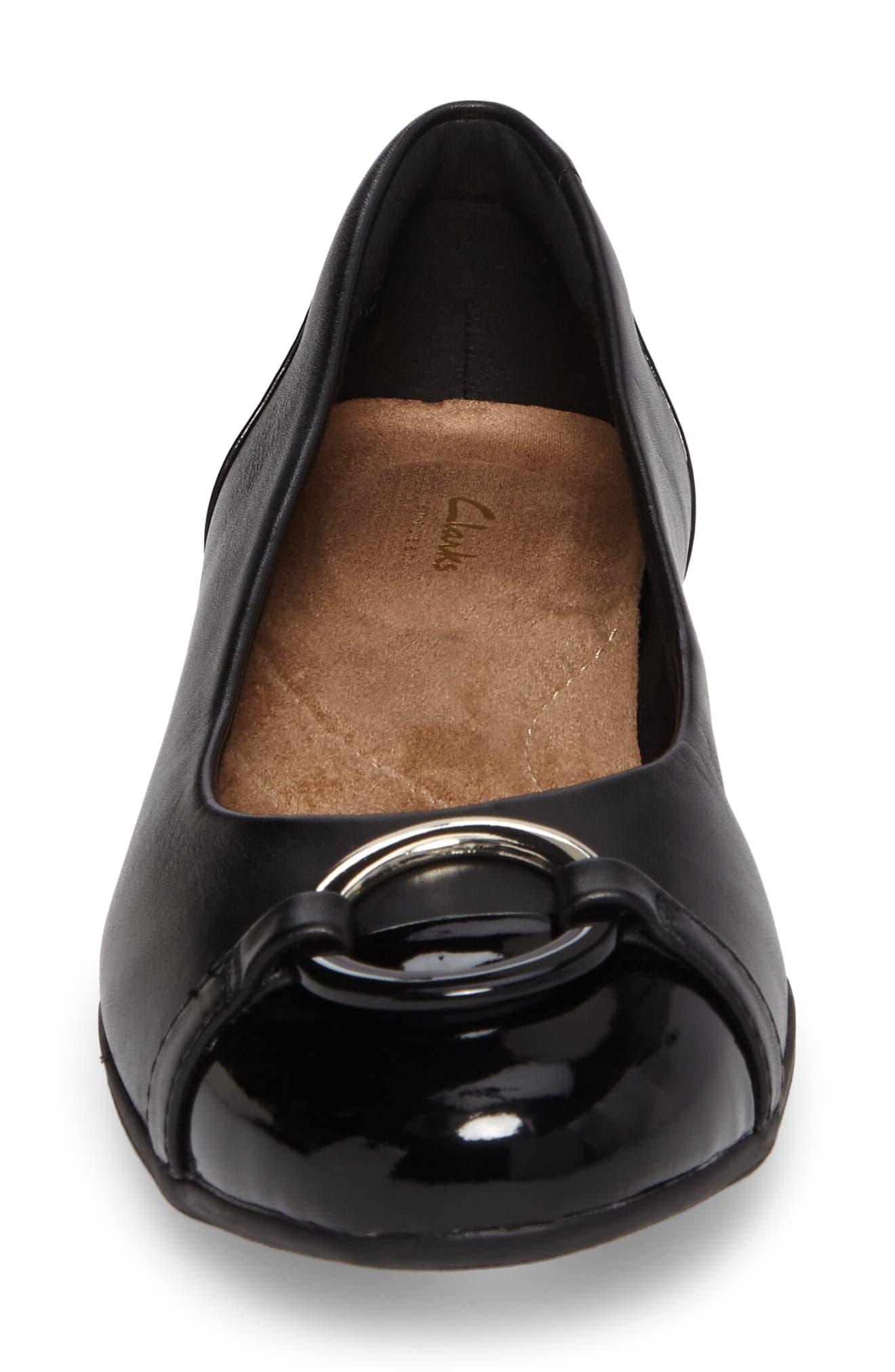 Neenah Vine Flat,                             Alternate thumbnail 4, color,                             Black Leather