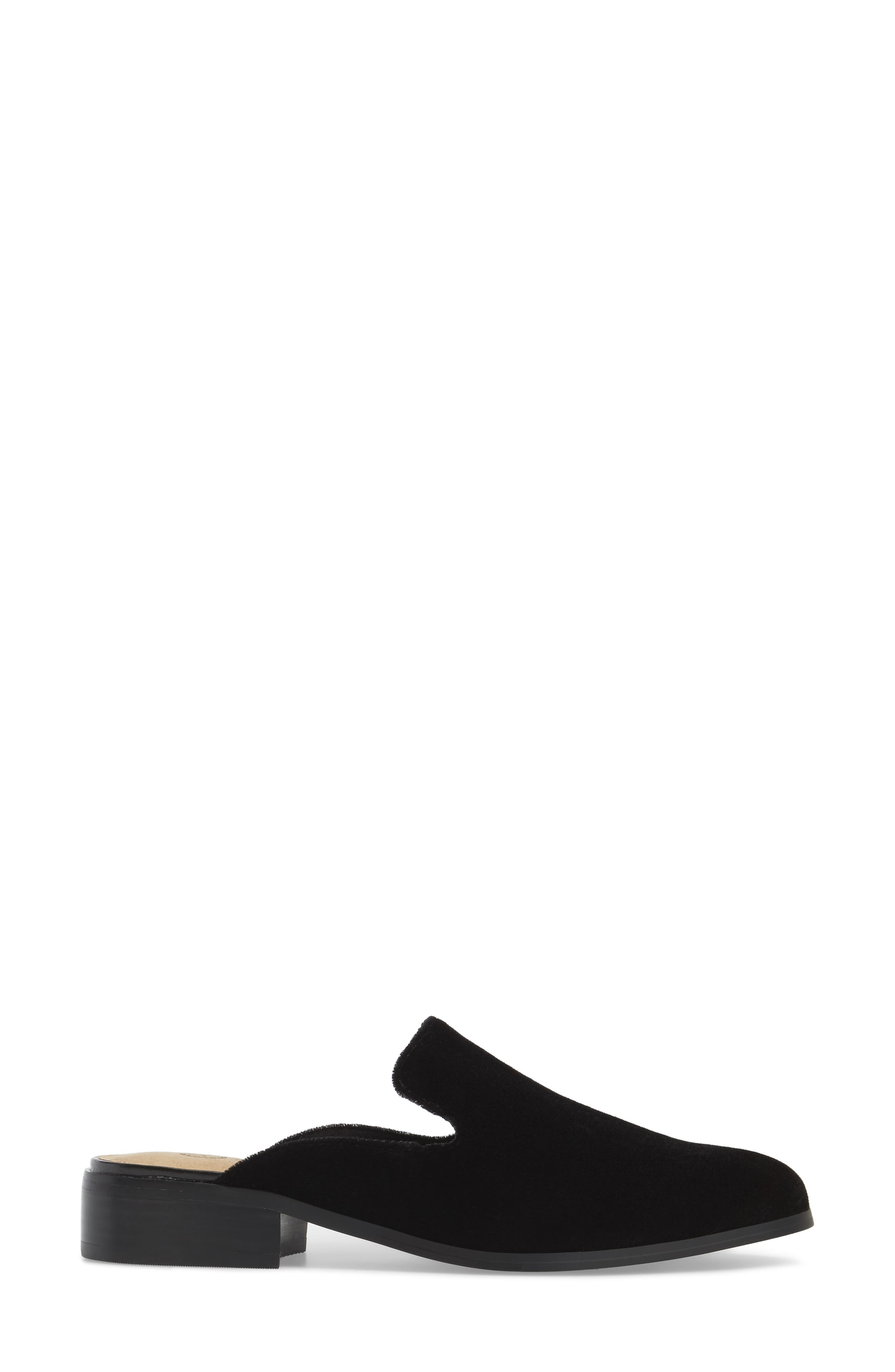Briar II Loafer Mule,                             Alternate thumbnail 3, color,                             Black Fabric