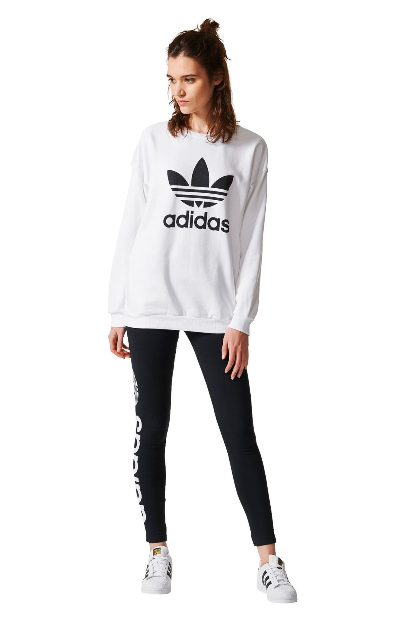 Alternate Image 7  - adidas Originals Trefoil Crewneck Sweatshirt