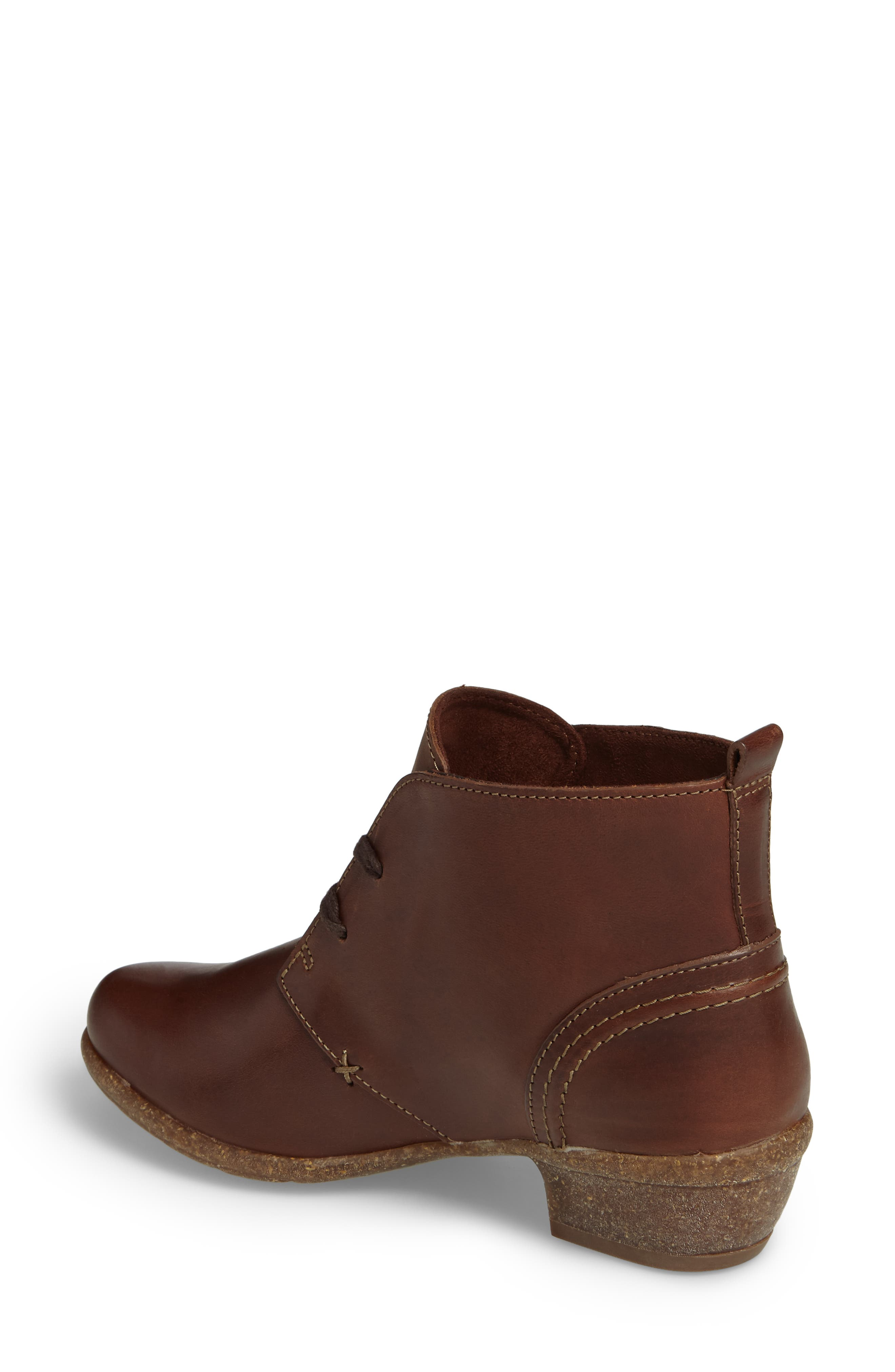 Wilrose Sage Bootie,                             Alternate thumbnail 2, color,                             Brown Nubuck Leather