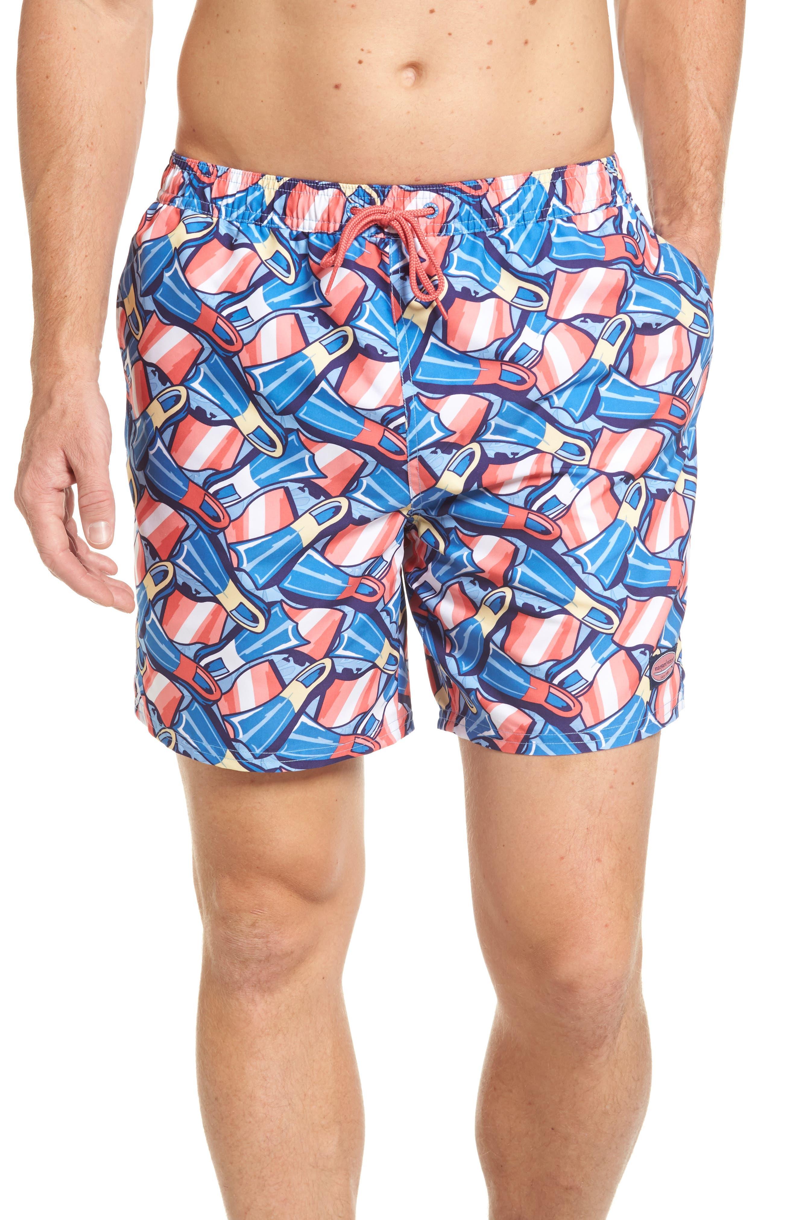 Flippers Chappy Swim Trunks,                         Main,                         color, Dockside Blue