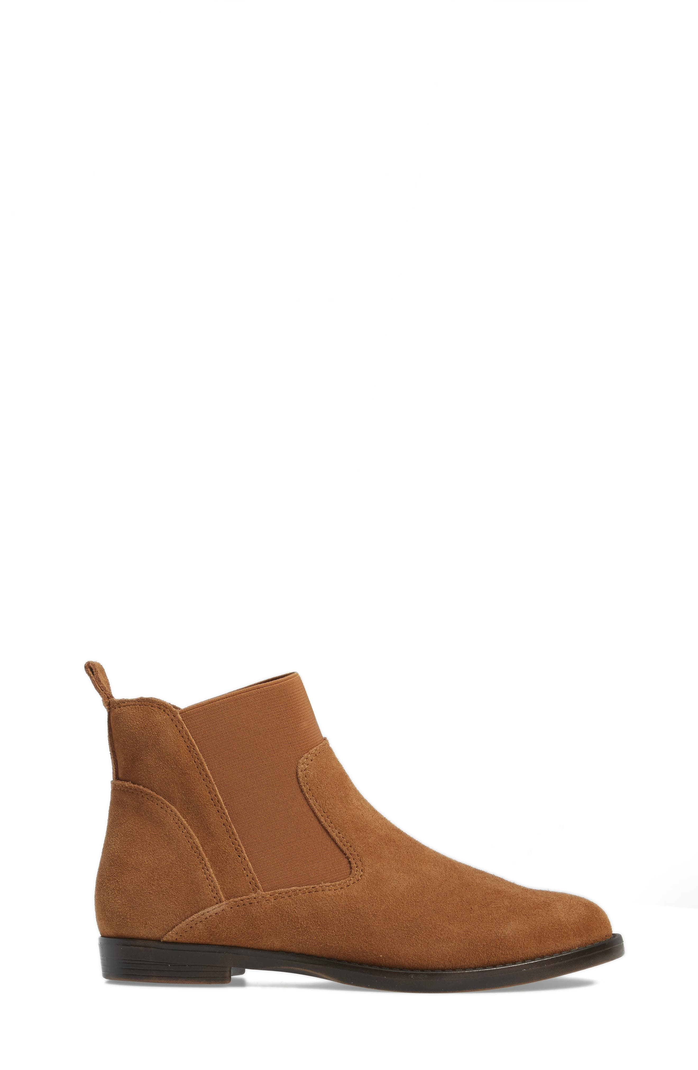 Rayna Chelsea Boot,                             Alternate thumbnail 3, color,                             Tan Suede