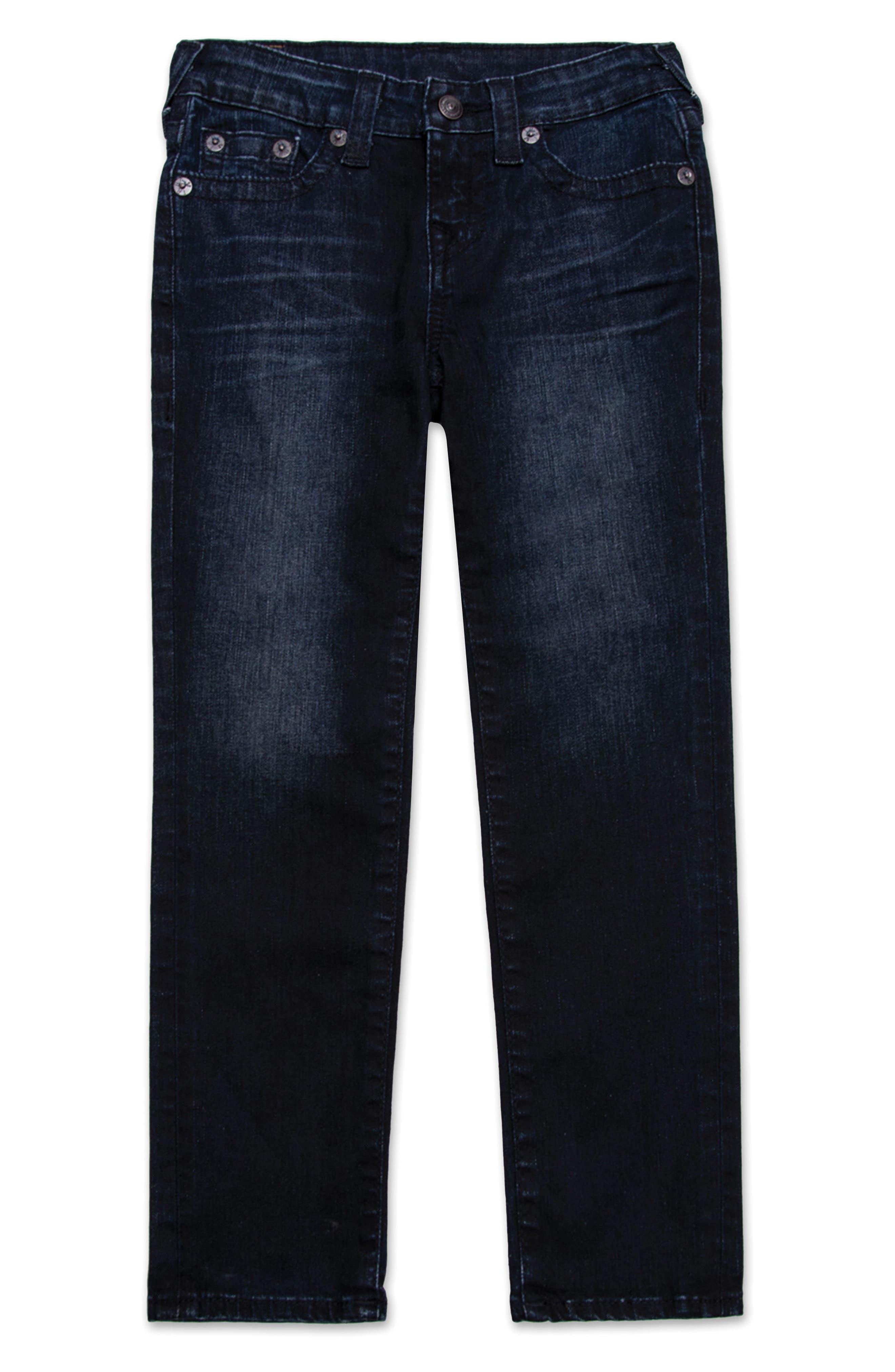 True Religion Brand Jeans Geno Single End Straight Leg Jeans (Toddler Boys & Little Boys)