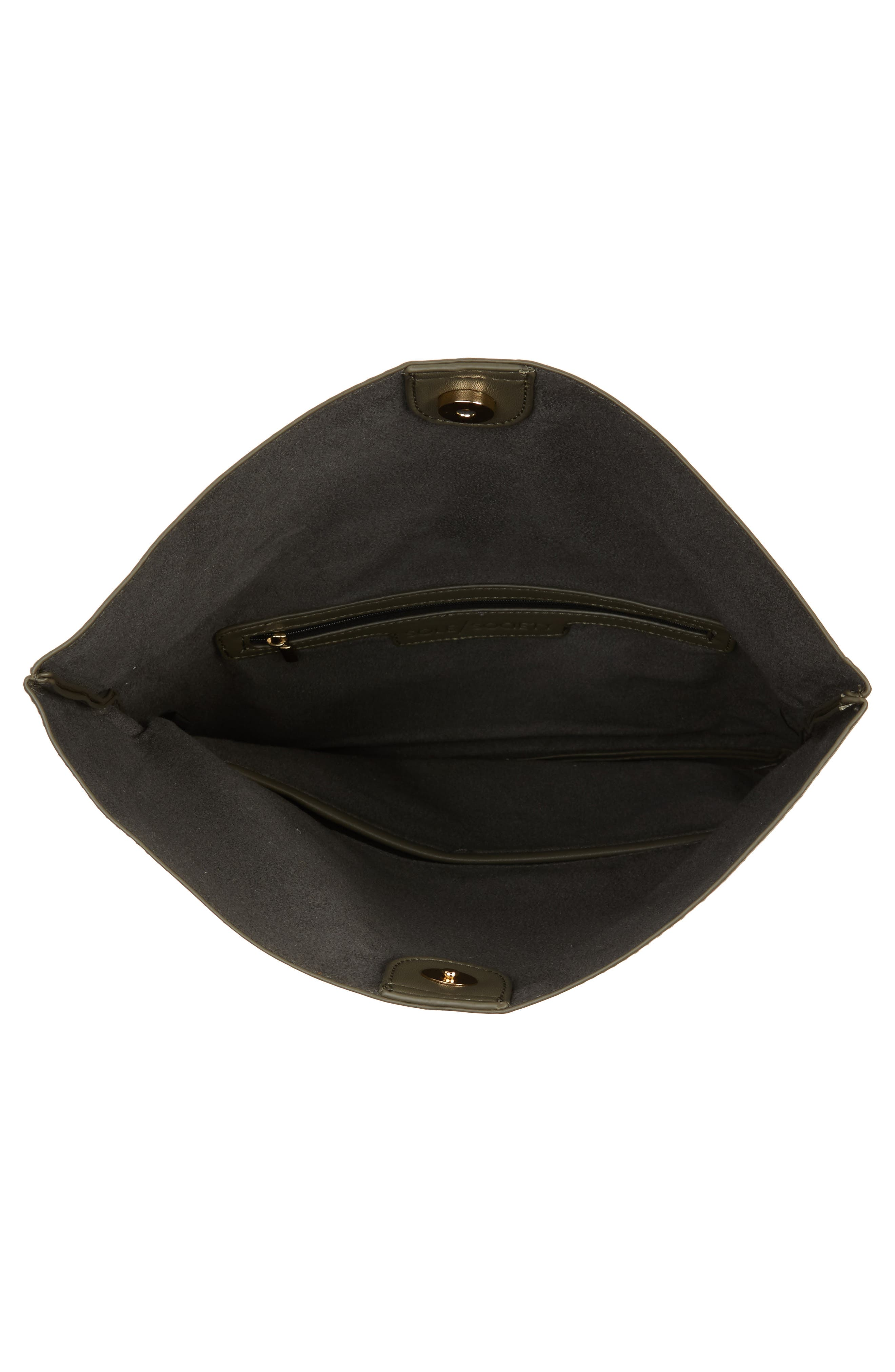 Alternate Image 4  - Sole Society Melrose Faux Leather Clutch