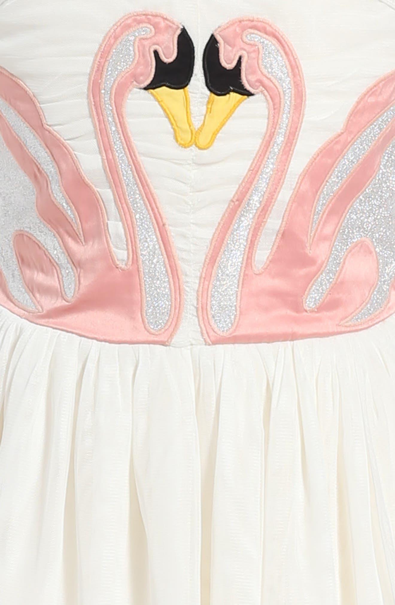Alternate Image 4  - Stella McCartney Kids Bonny Winged Swan Tulle Dress (Big Girl)