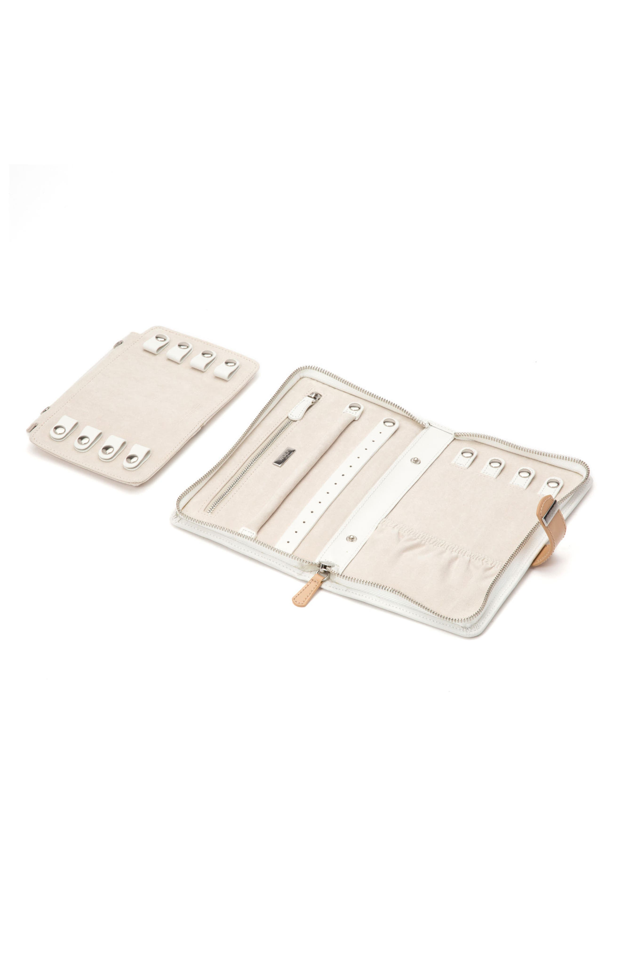 Blossom Leather Jewelry Portfolio,                             Alternate thumbnail 2, color,                             Ivory
