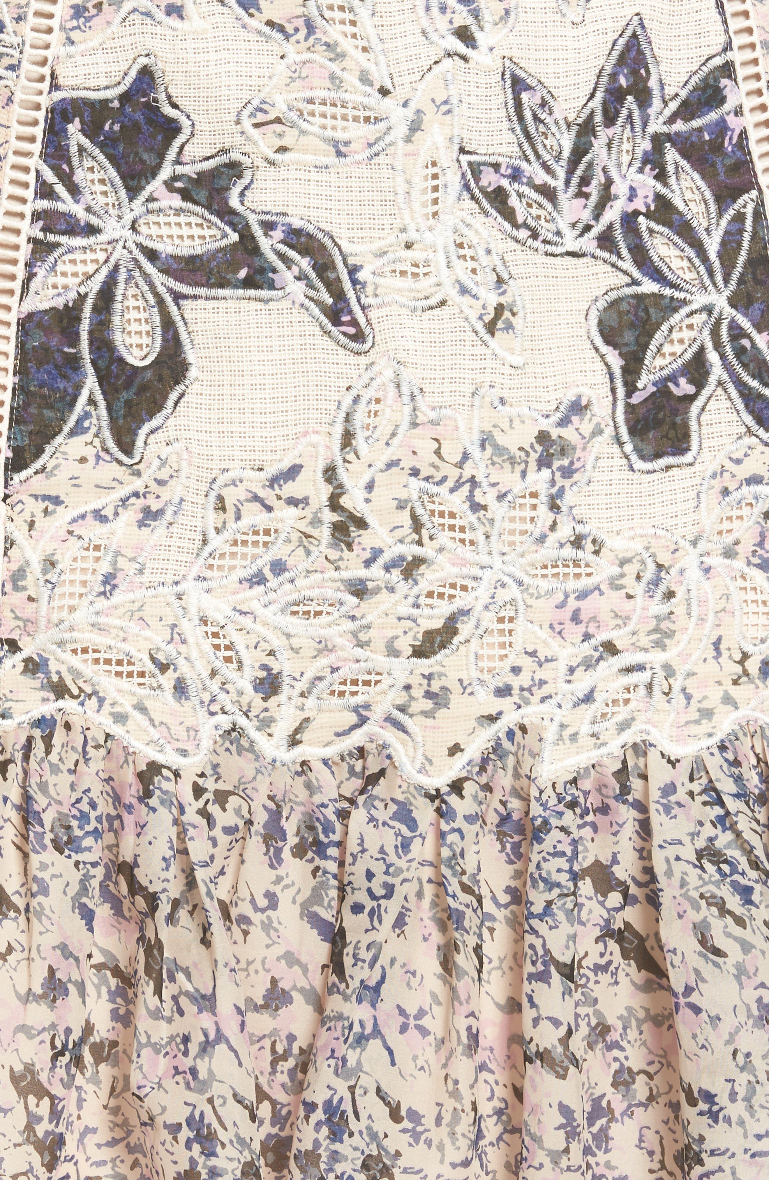 Alternate Image 5  - Kobi Halperin Tegan Floral Fit & Flare Skirt