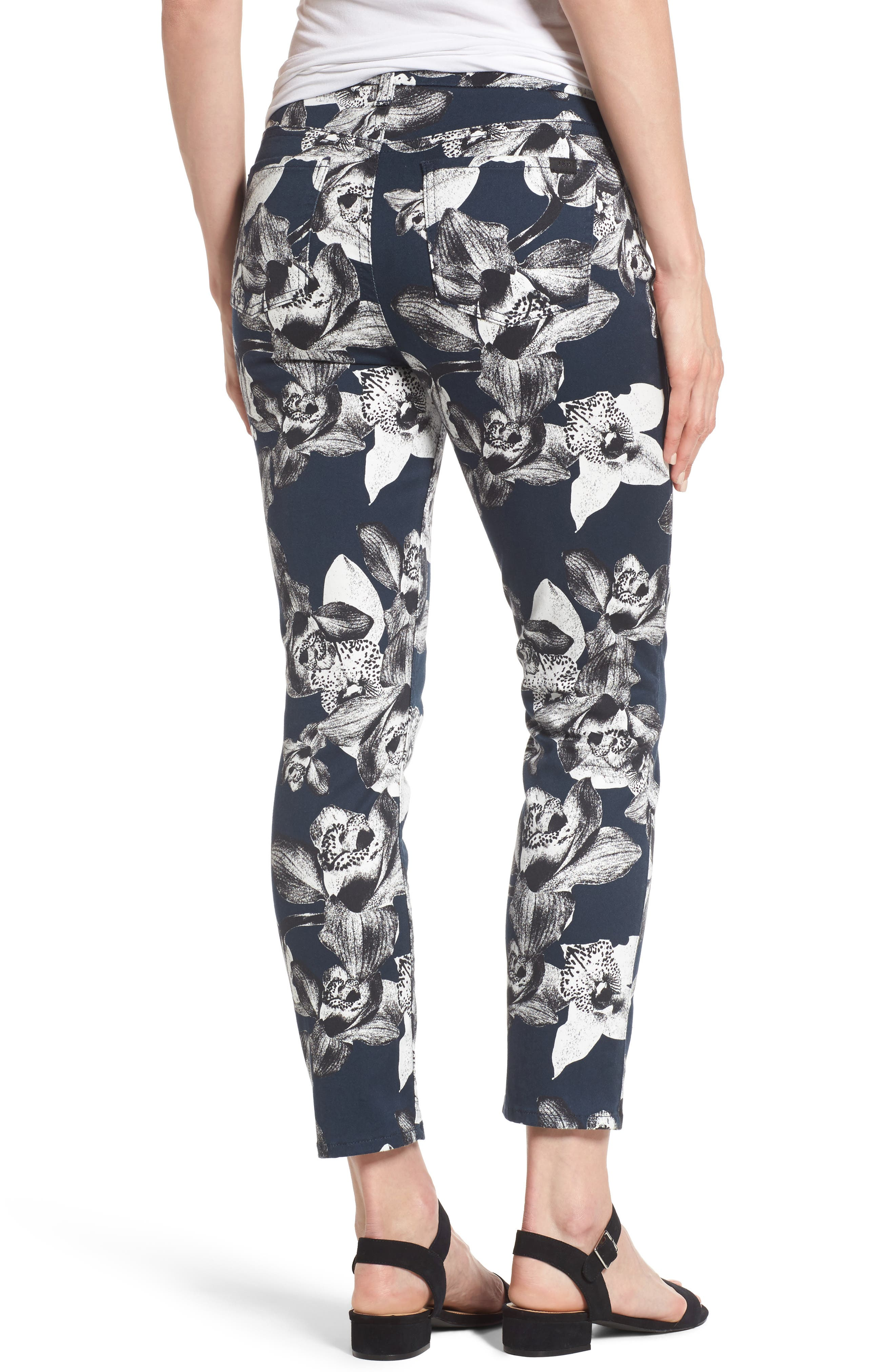 Alternate Image 2  - Jen7 Print Crop Skinny Jeans