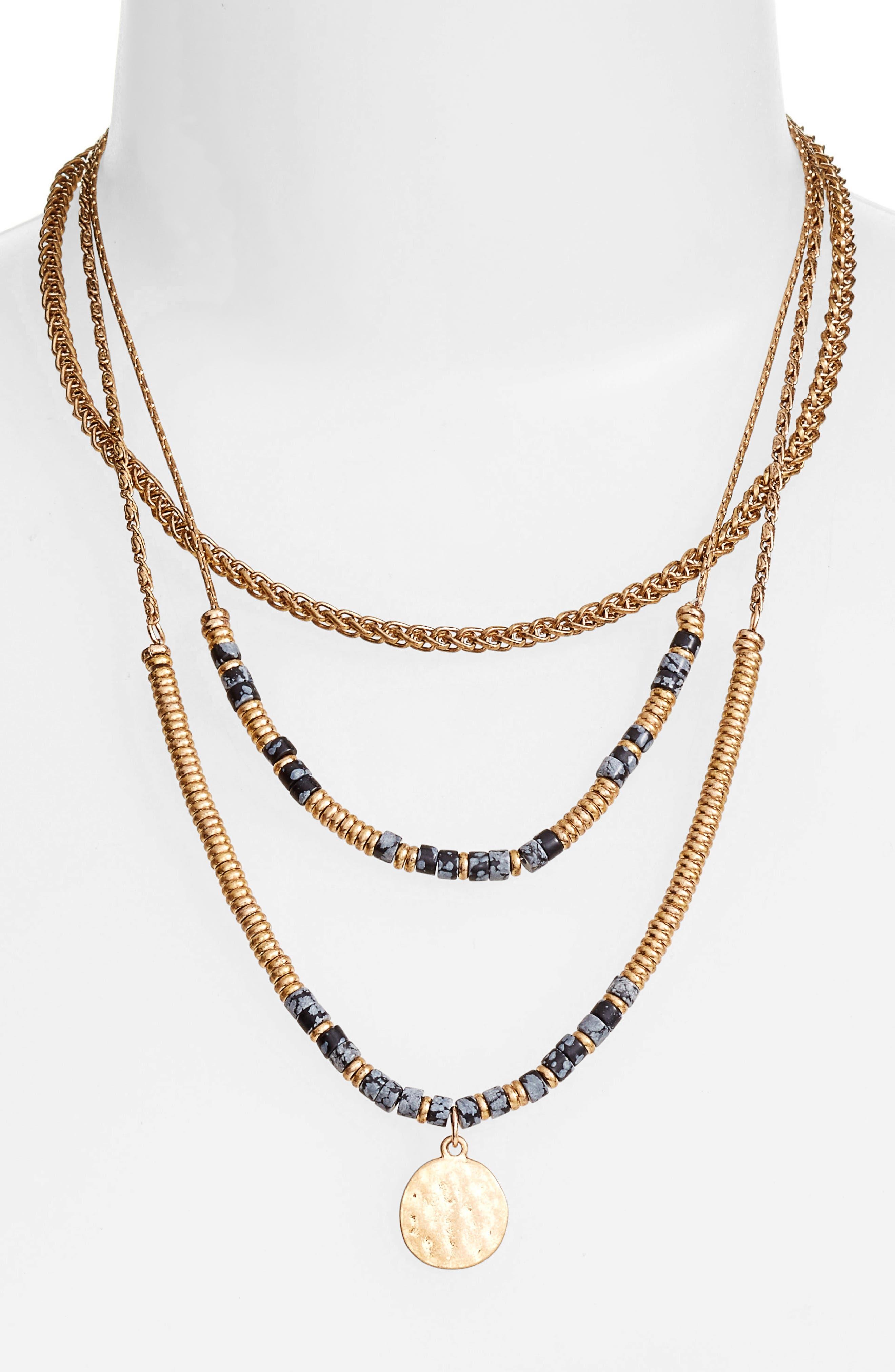 Treasure & Bond Beaded Frontal Necklace