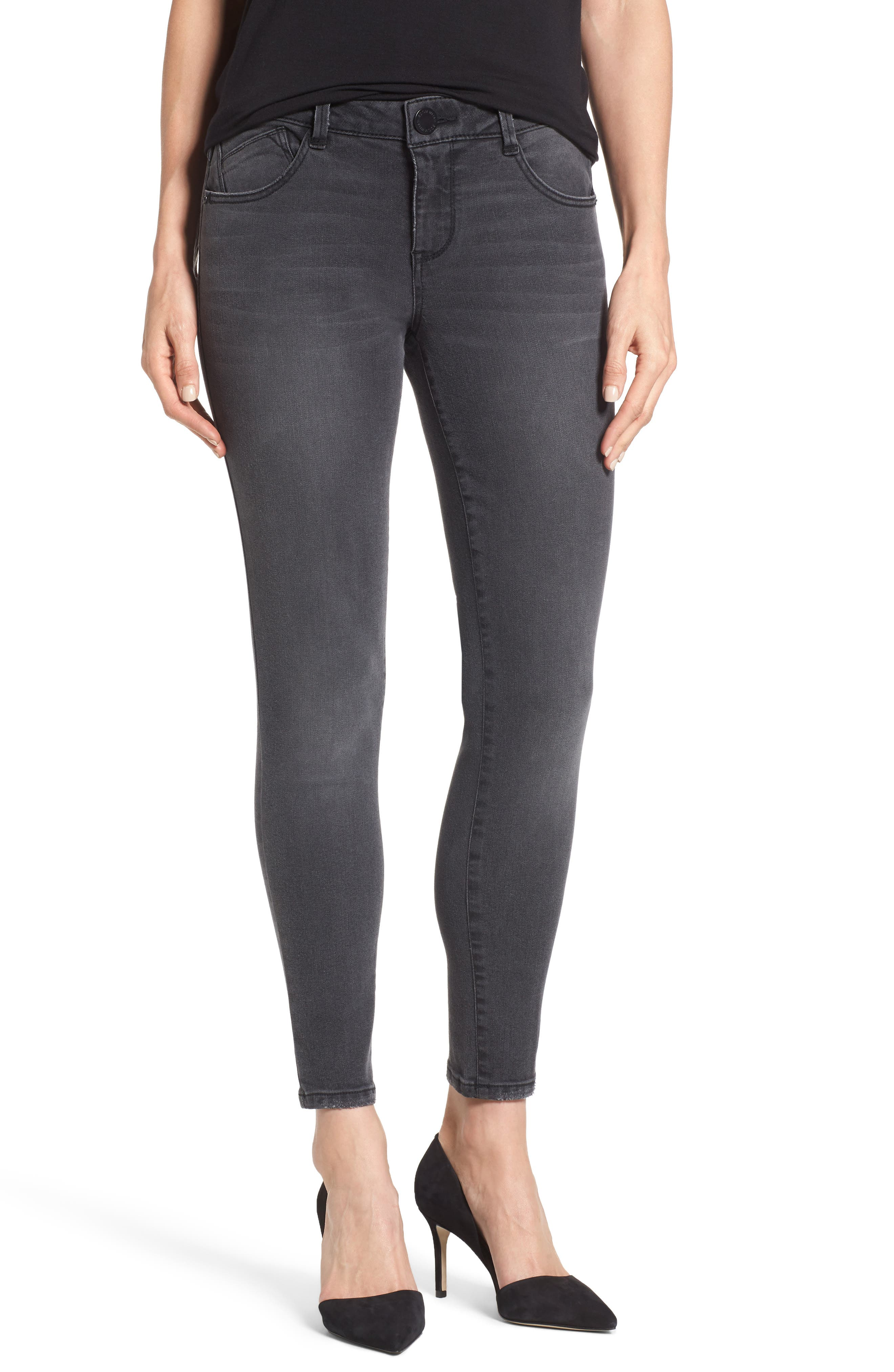 Skinny Ankle Jeans,                         Main,                         color, Grey