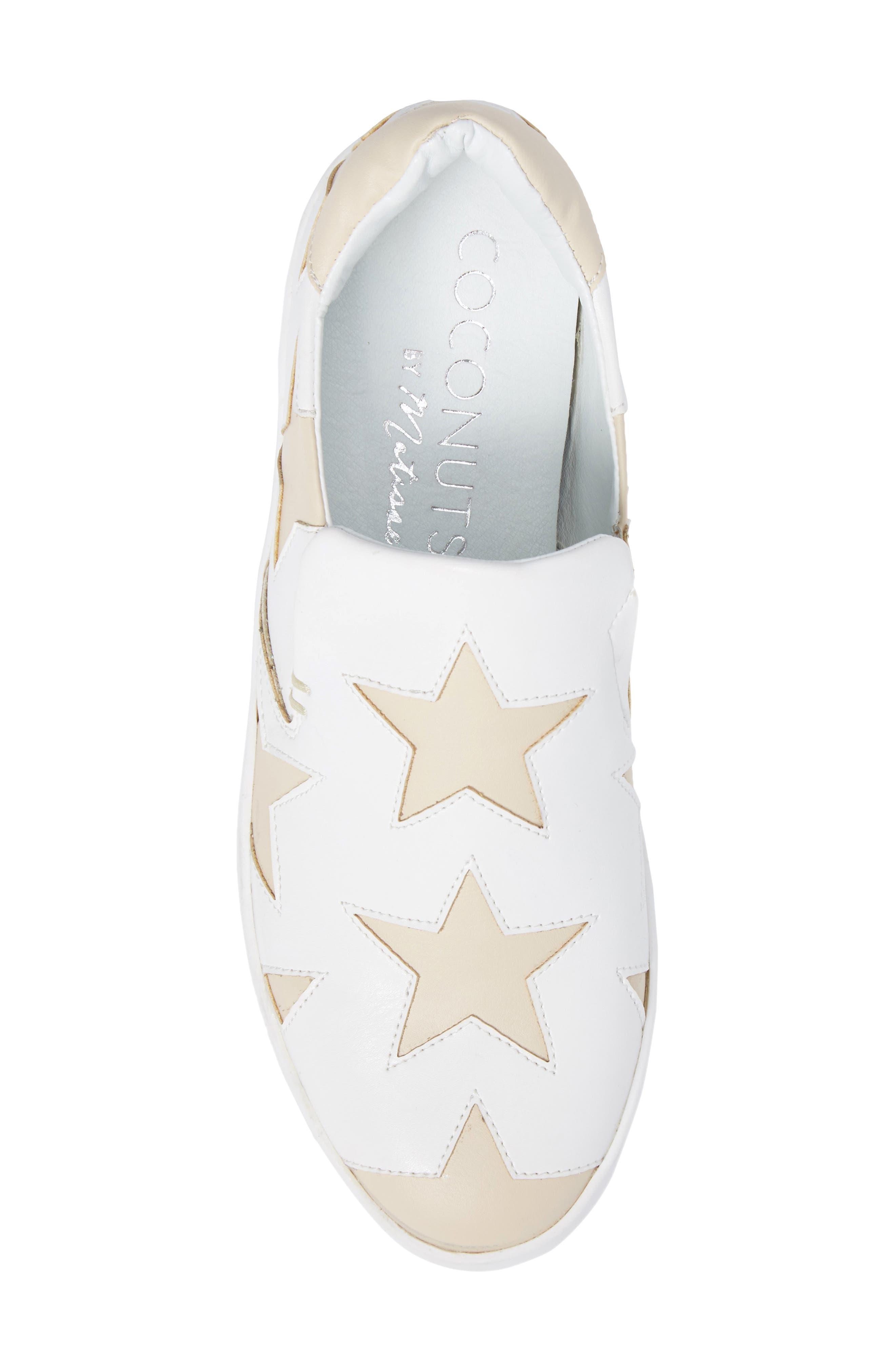 Highlight Slip-On Star Sneaker,                             Alternate thumbnail 5, color,                             White