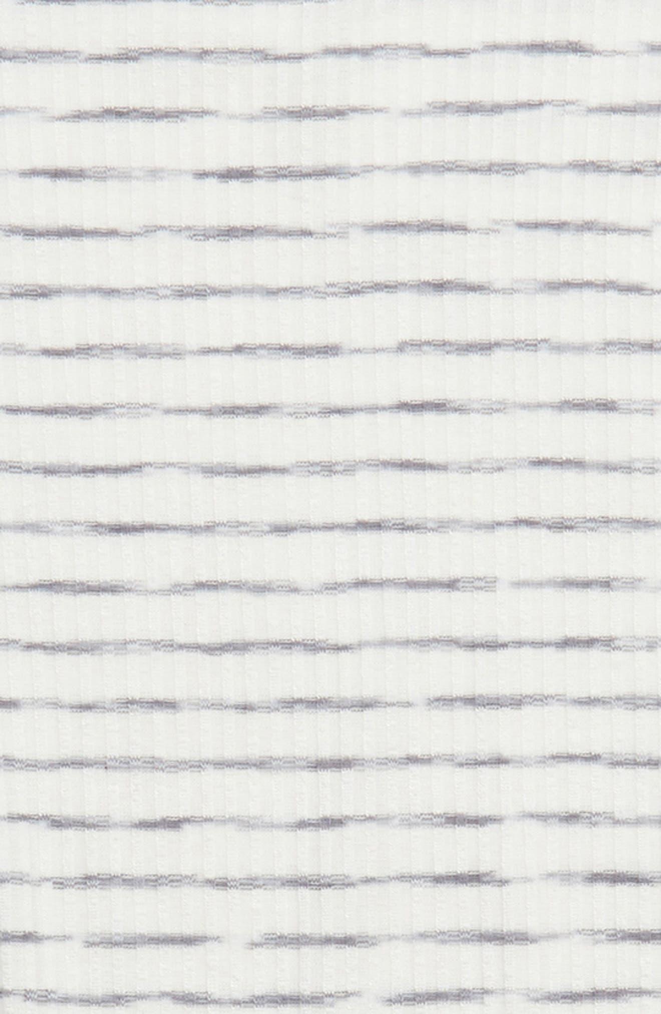 Rib Knit Tee,                             Alternate thumbnail 3, color,                             Grey/ White
