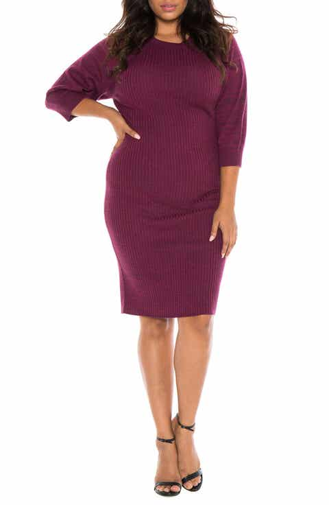Womens Red Body Con Plus Size Dresses Nordstrom