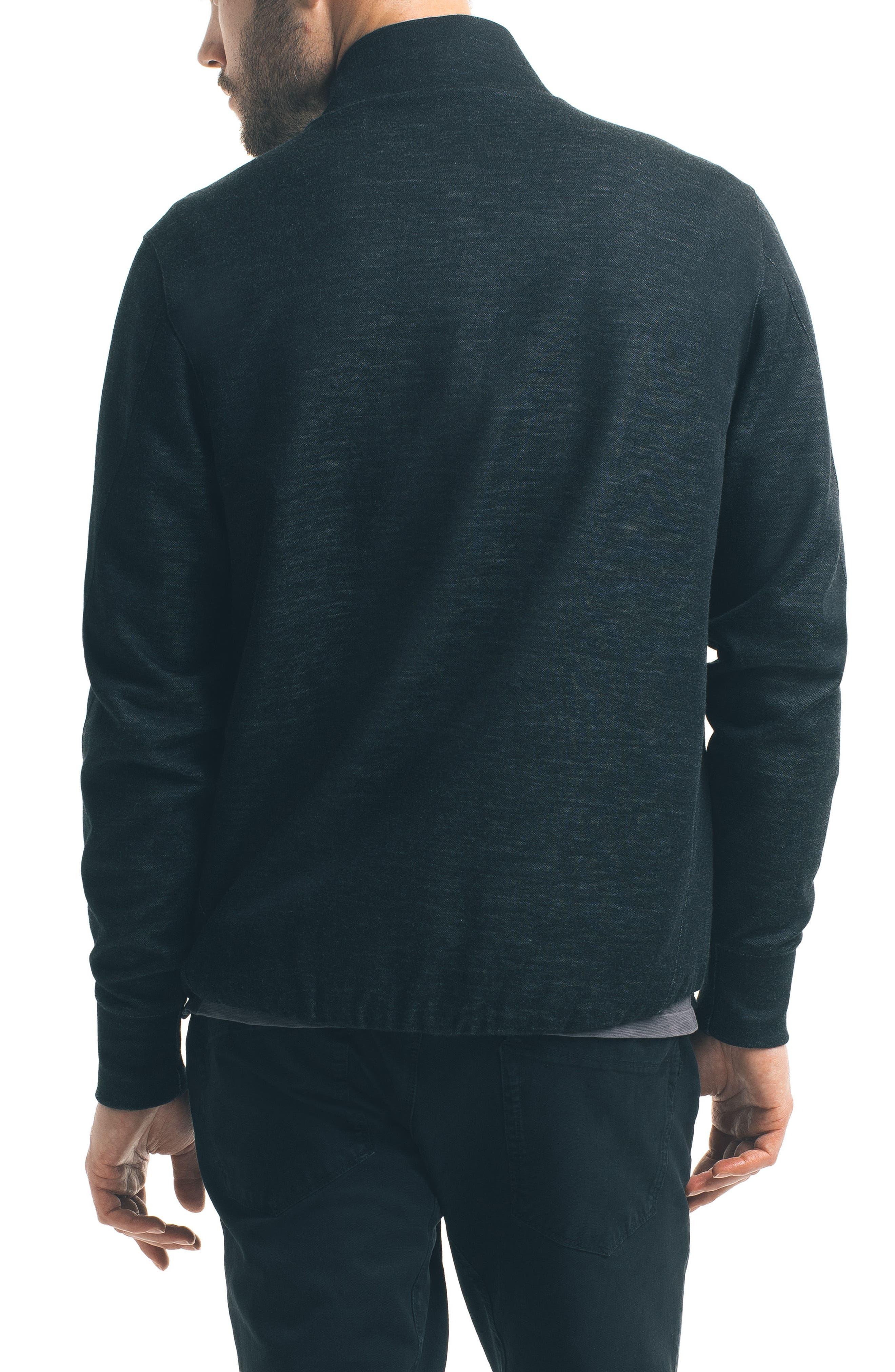 Modern Slim Fit Bomber Jacket,                             Alternate thumbnail 2, color,                             Black