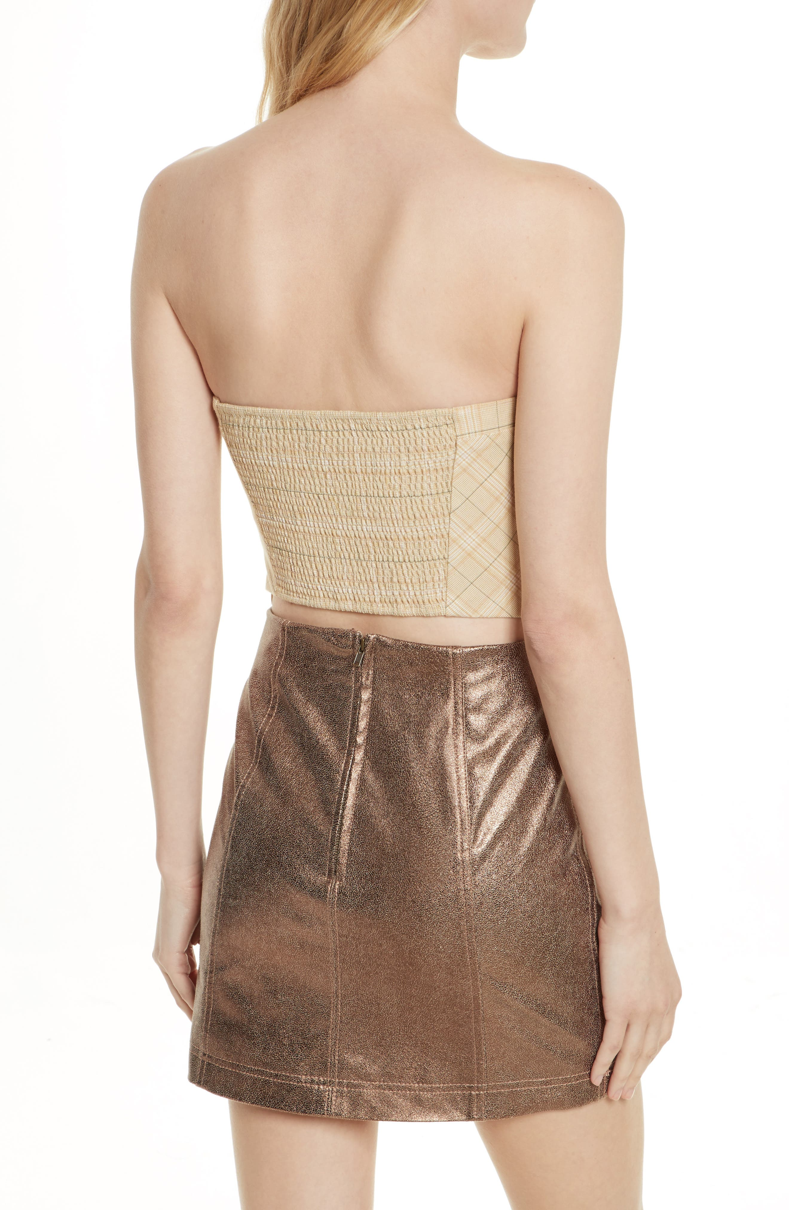 Out West Corset Top,                             Alternate thumbnail 4, color,                             Taupe