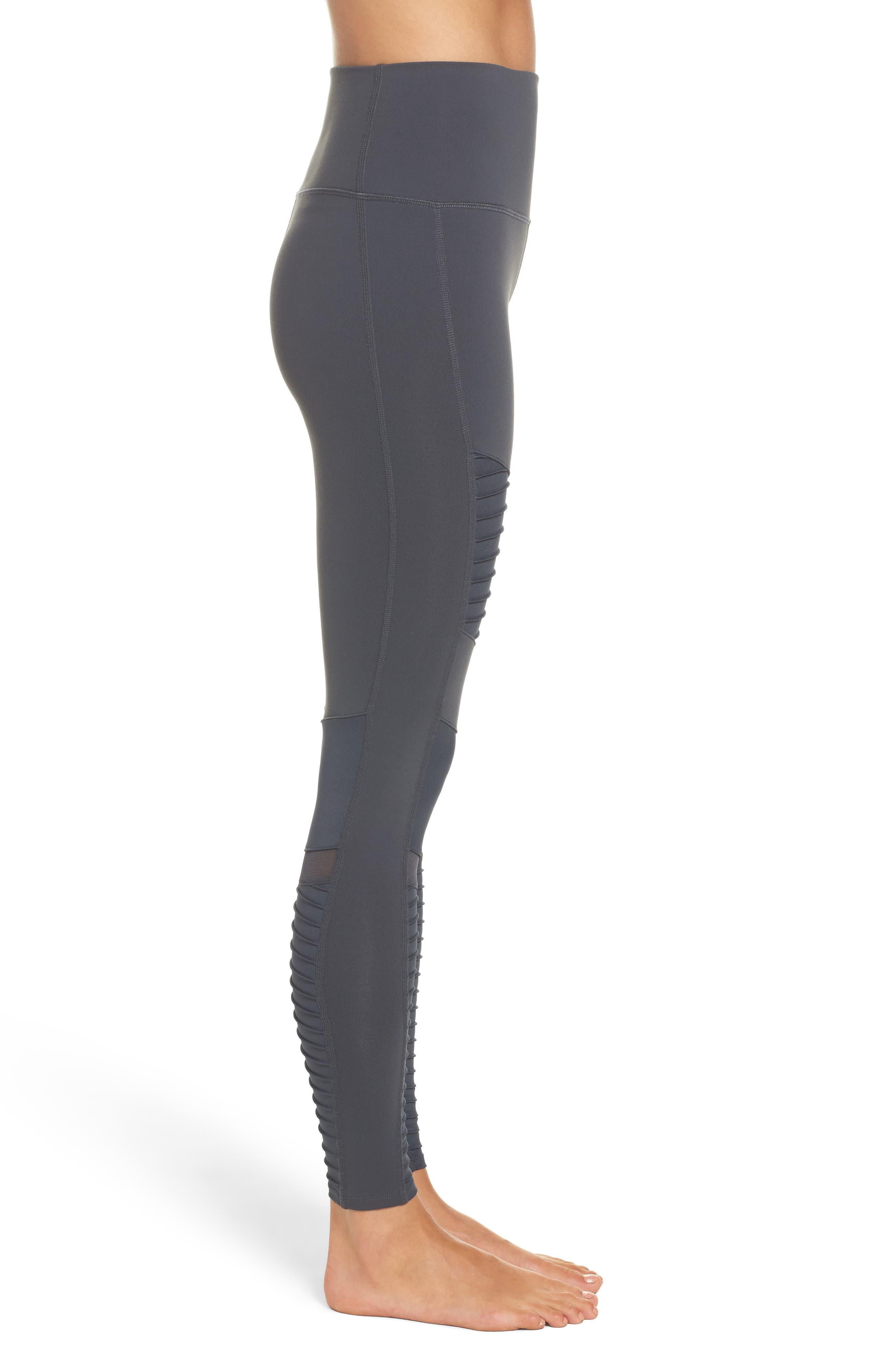 Alternate Image 3  - Alo High Waist Moto Leggings