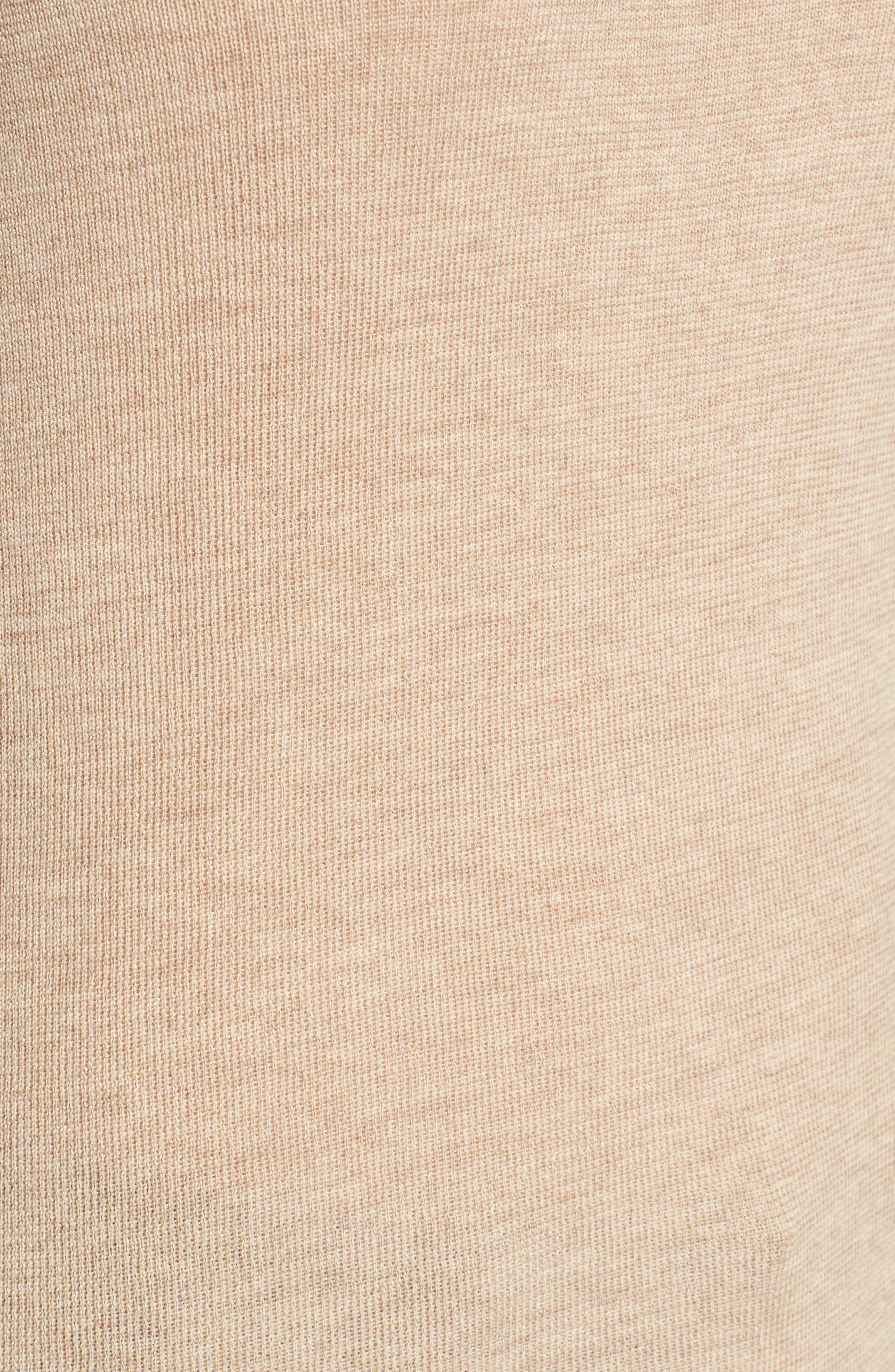 The Fisher Project Ultrafine Merino Turtleneck Sweater,                             Alternate thumbnail 5, color,                             Maple Oat