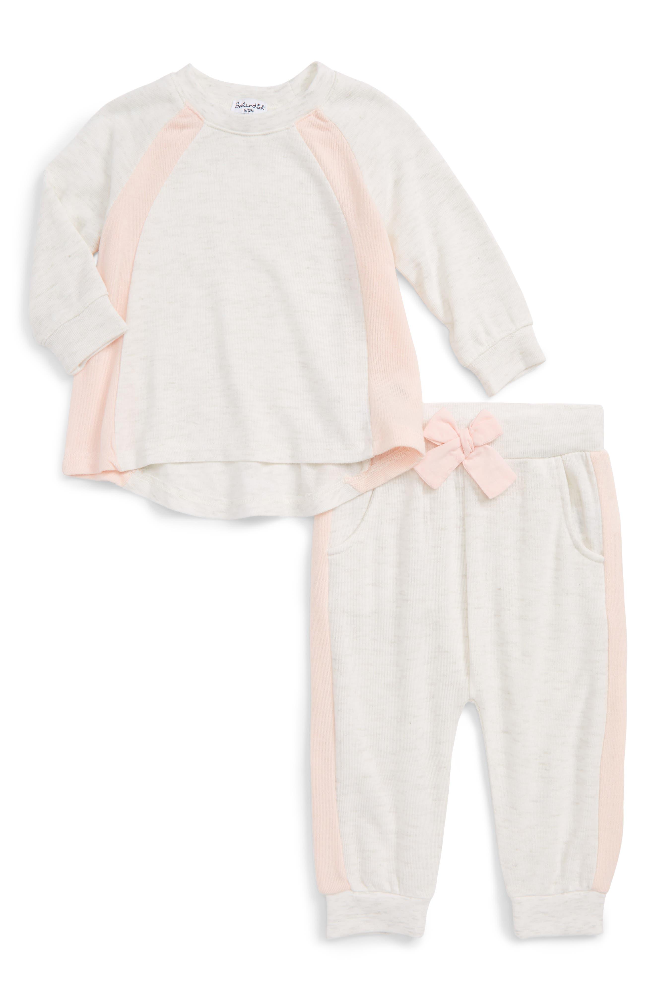 Splendid Knit Sweatshirt & Sweatpants Set (Baby Girls)