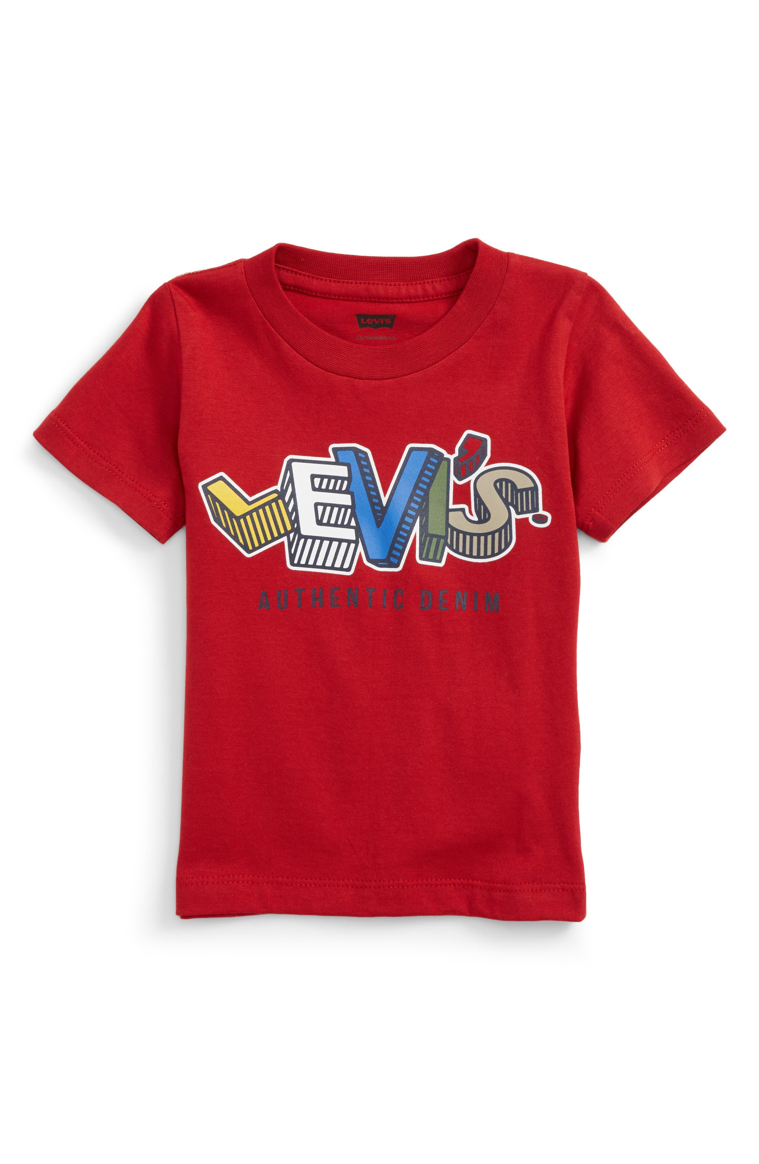 Logo Graphic T-Shirt,                             Main thumbnail 1, color,                             Chili Pepper