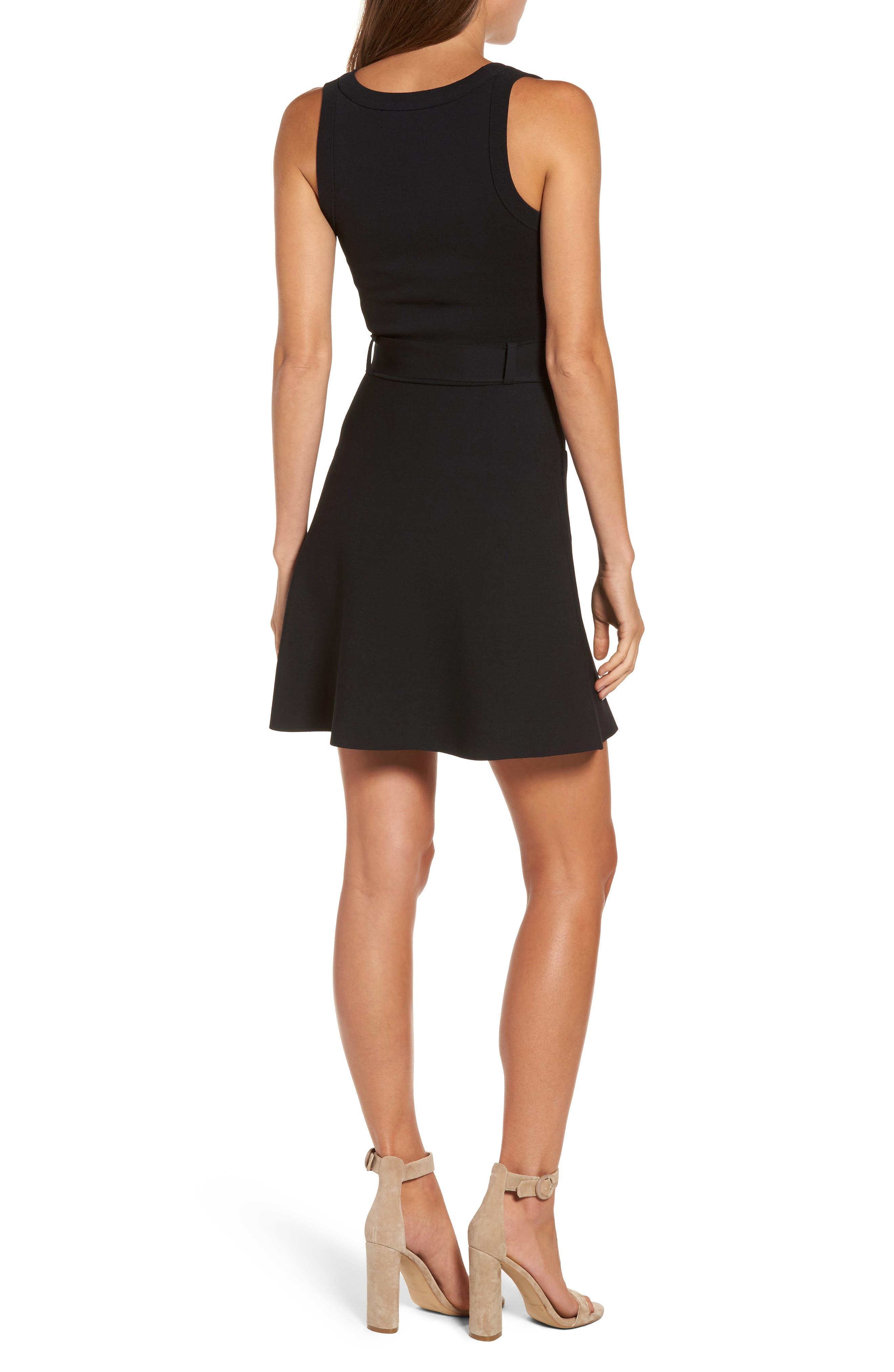 Alternate Image 2  - KENDALL + KYLIE Sleeveless Fit & Flare Dress