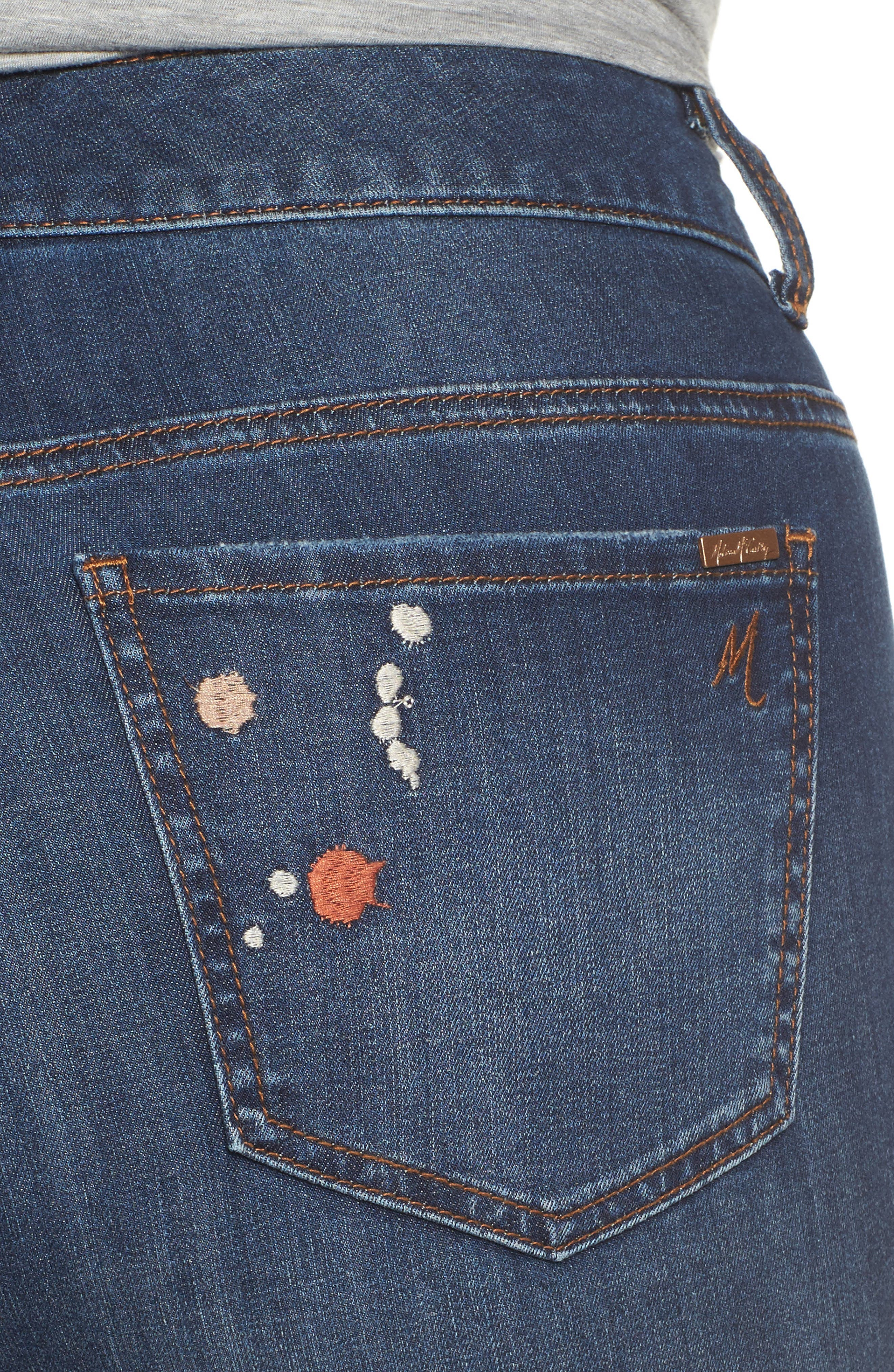Alternate Image 4  - Melissa McCarthy Seven7 Paint Splatter Stretch Skinny Jeans (Plus Size)
