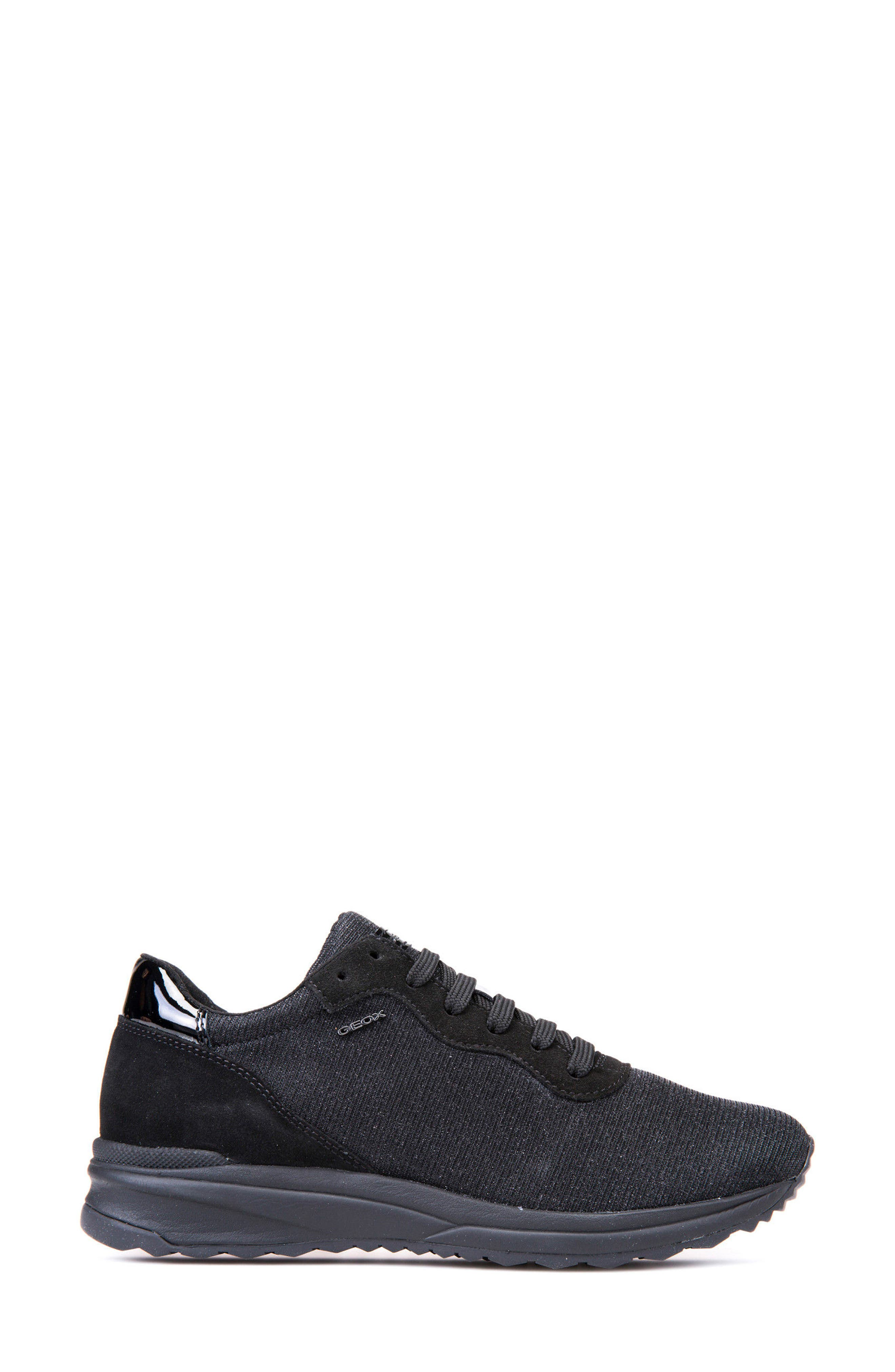 Airell Sneaker,                             Alternate thumbnail 3, color,                             Black Fabric