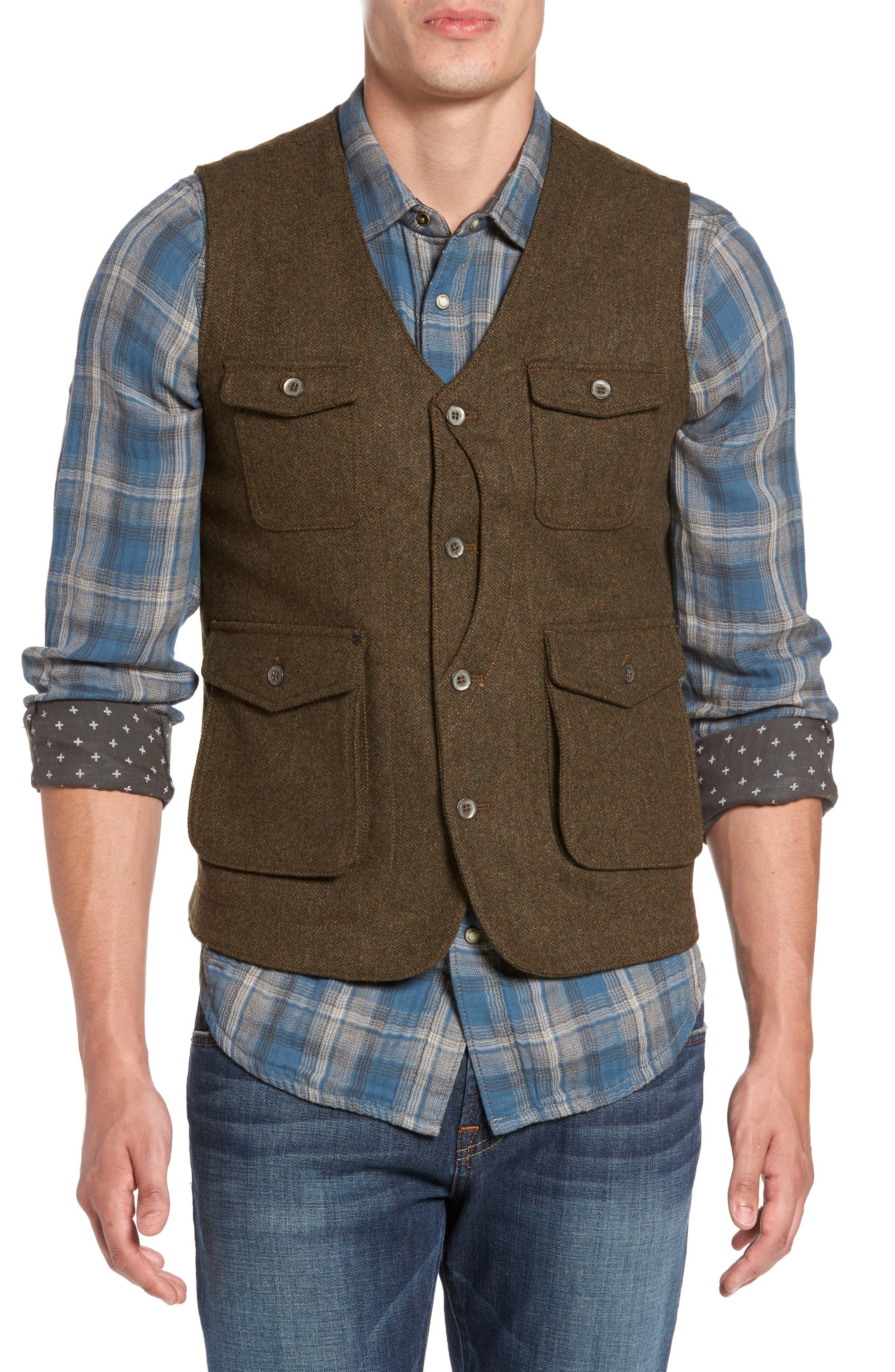 Jeremiah Porter Herringbone Wool Vest
