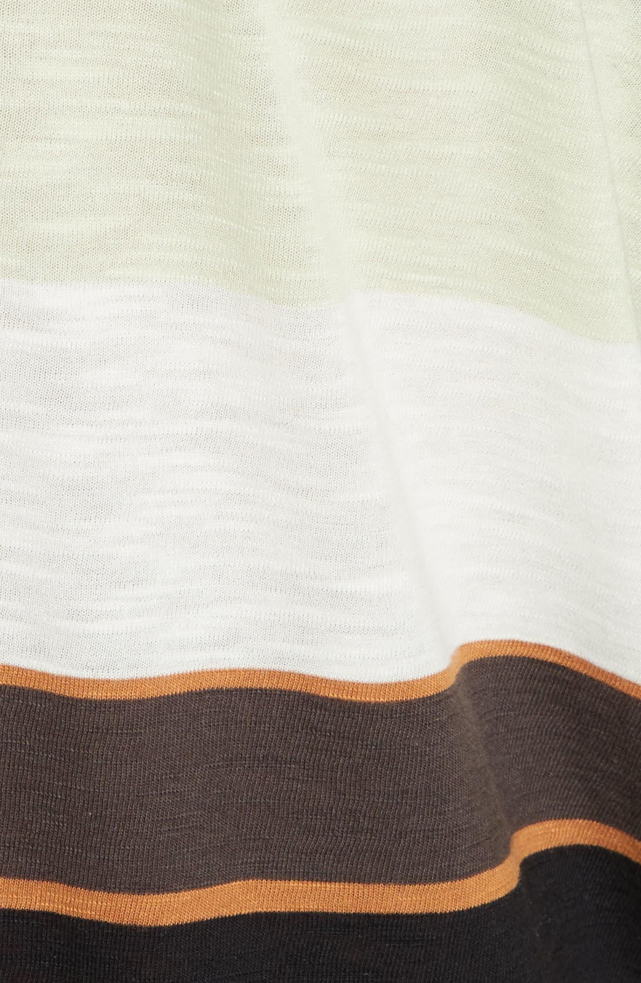 Kate Stripe Tunic,                             Alternate thumbnail 5, color,                             Ivory