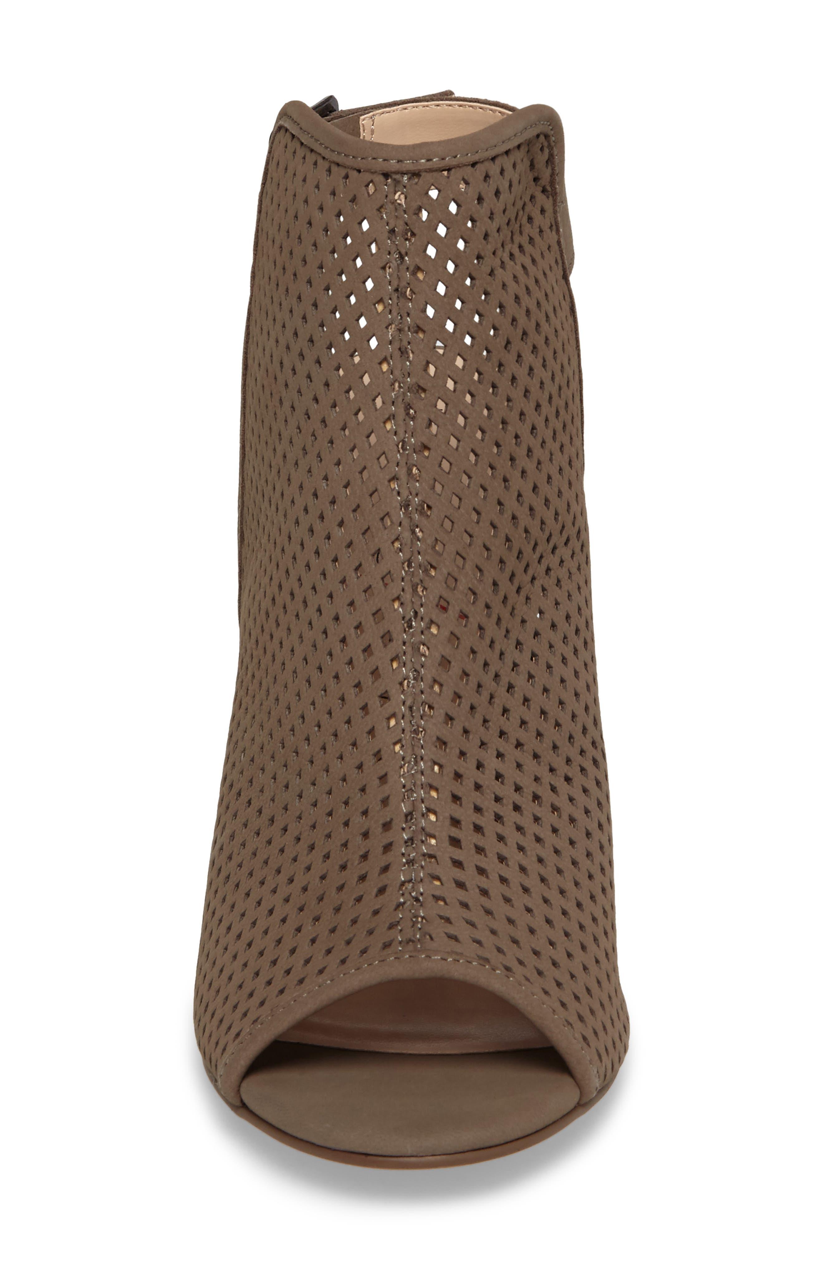 Bombay Perforated Sandal,                             Alternate thumbnail 4, color,                             Mushroom