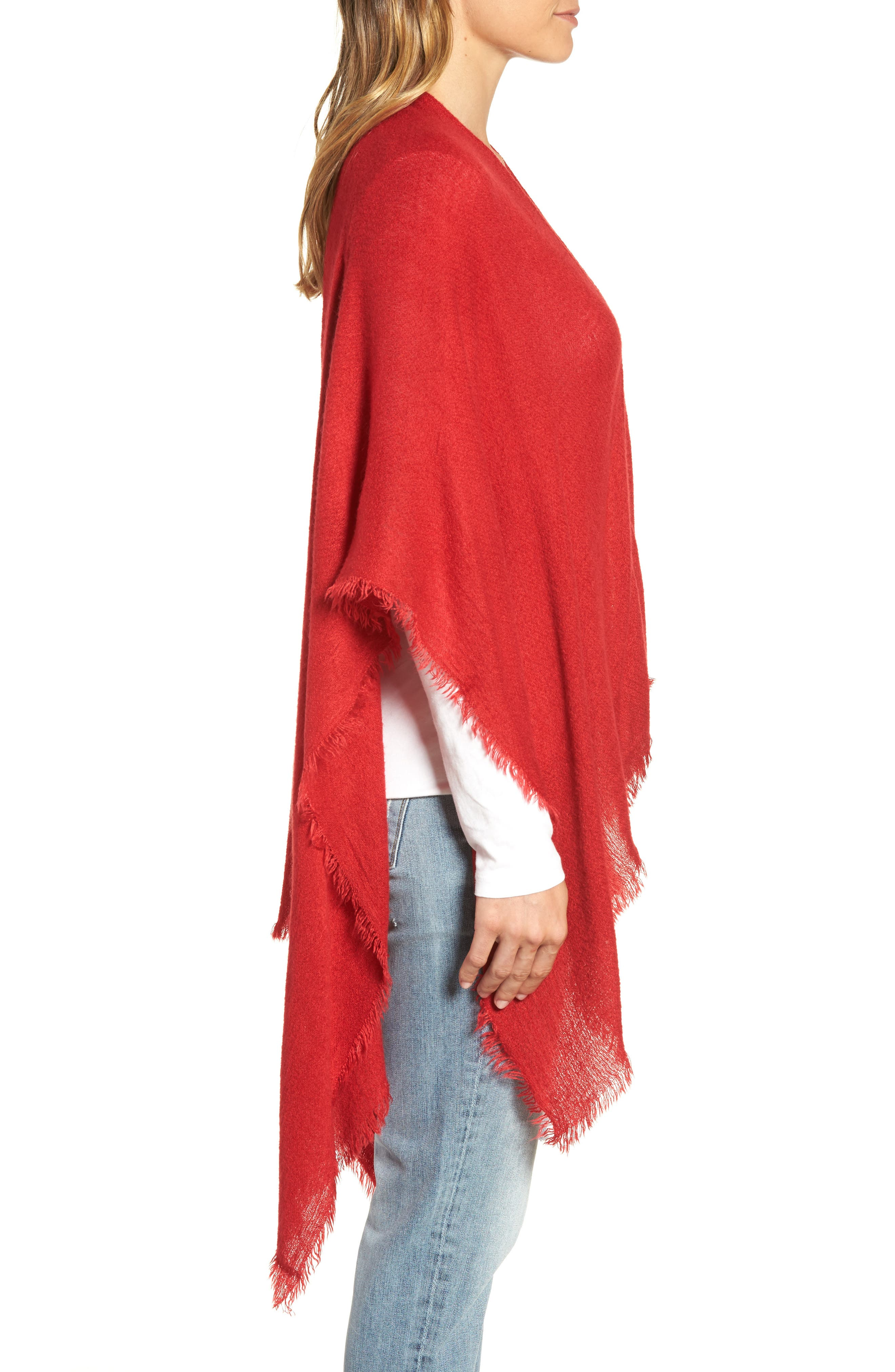 Alternate Image 3  - Echo Fringe Trim Cape
