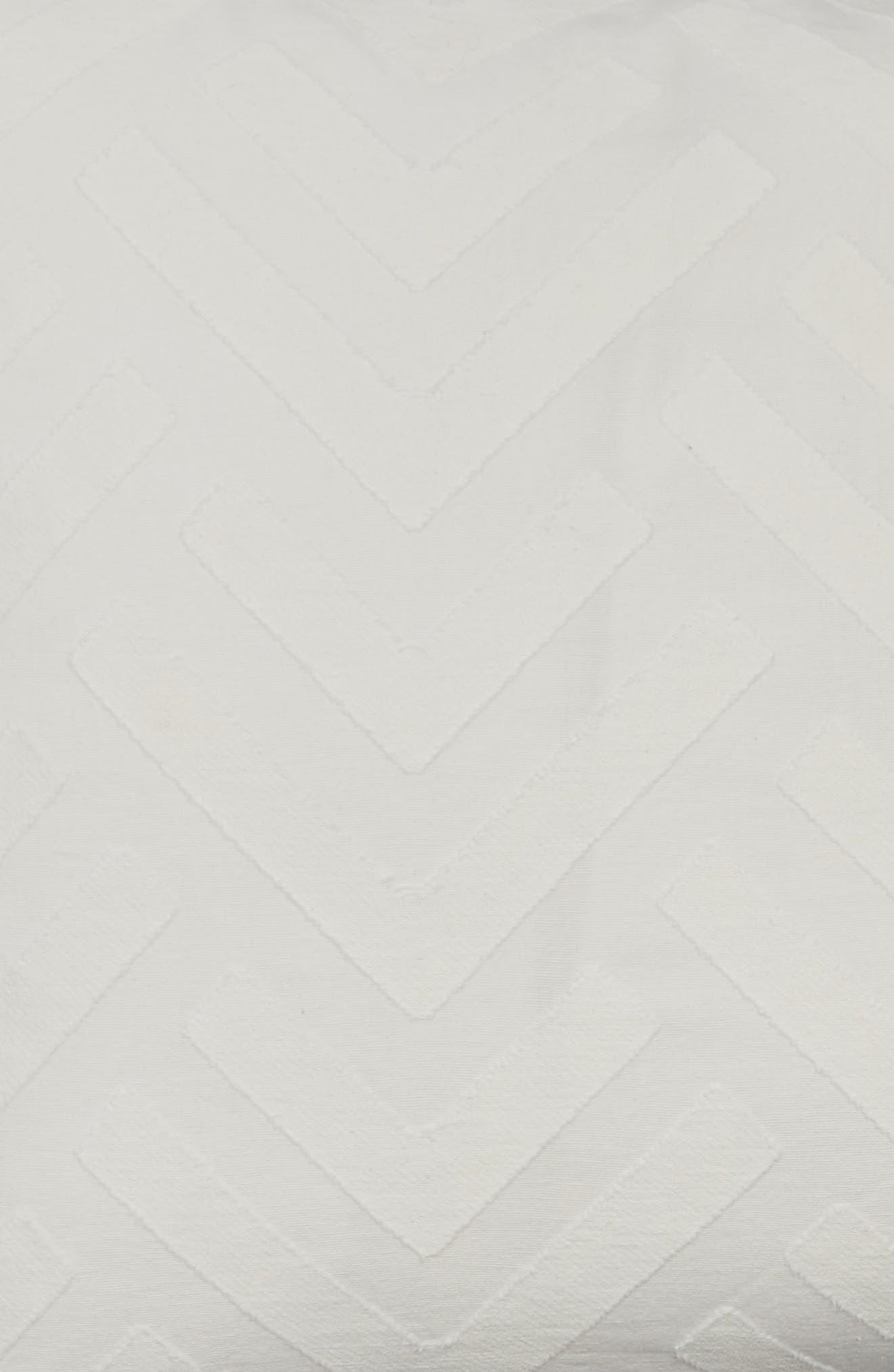 Trellis Sham,                             Alternate thumbnail 3, color,                             White