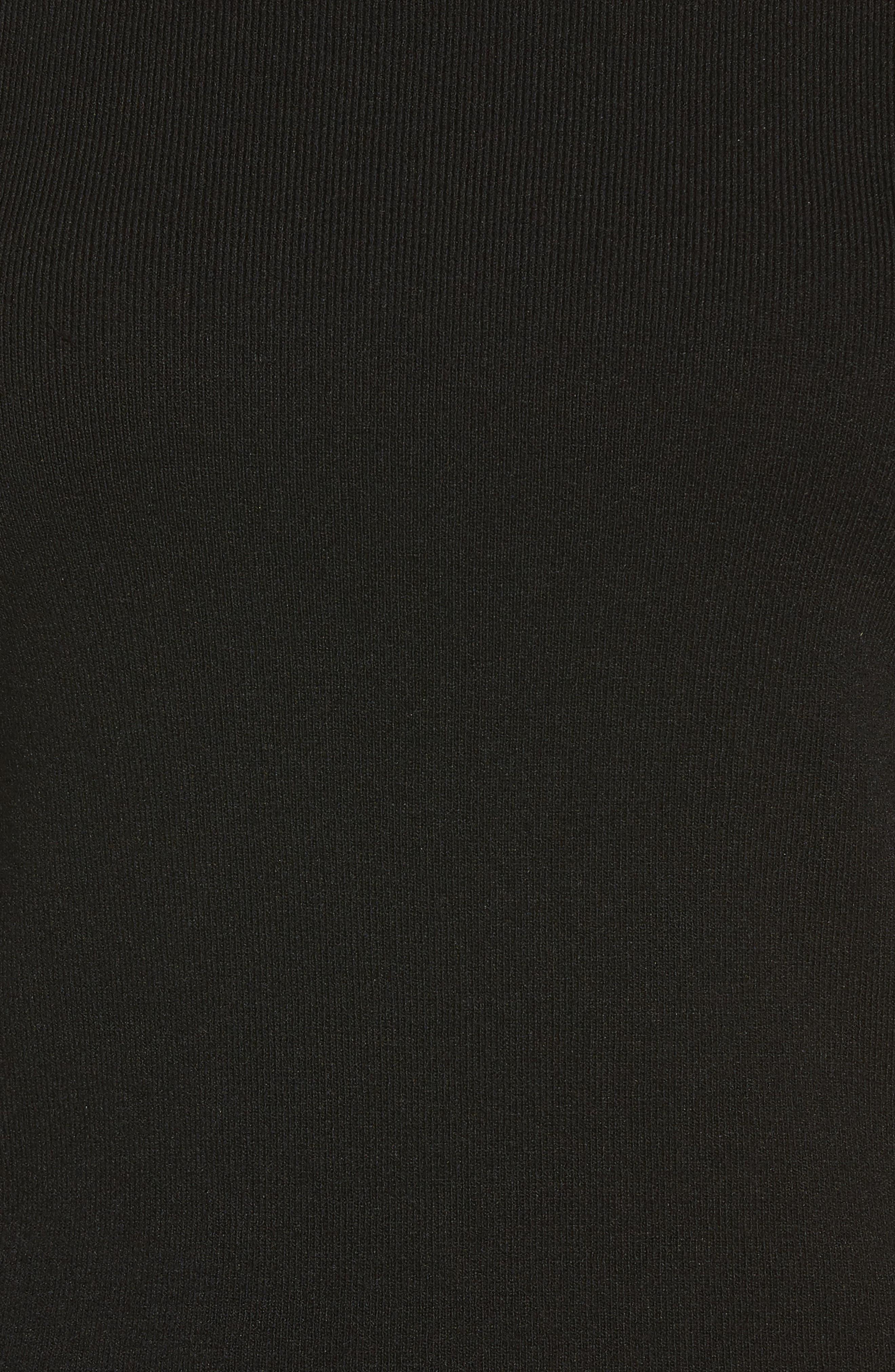 Turtleneck Sweater,                             Alternate thumbnail 5, color,                             Black