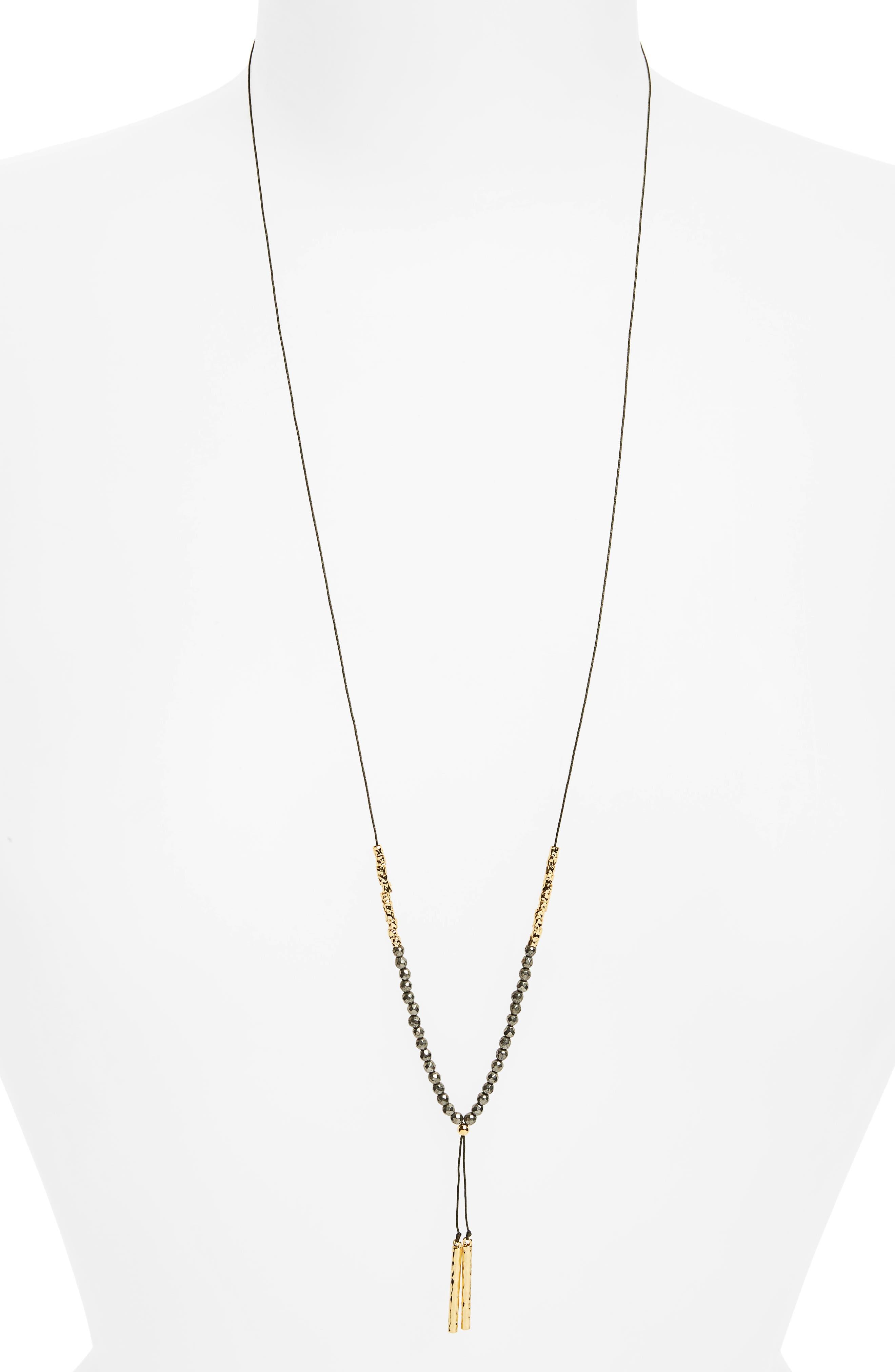 gorjana Power Gemstone Adjustable Y-Necklace
