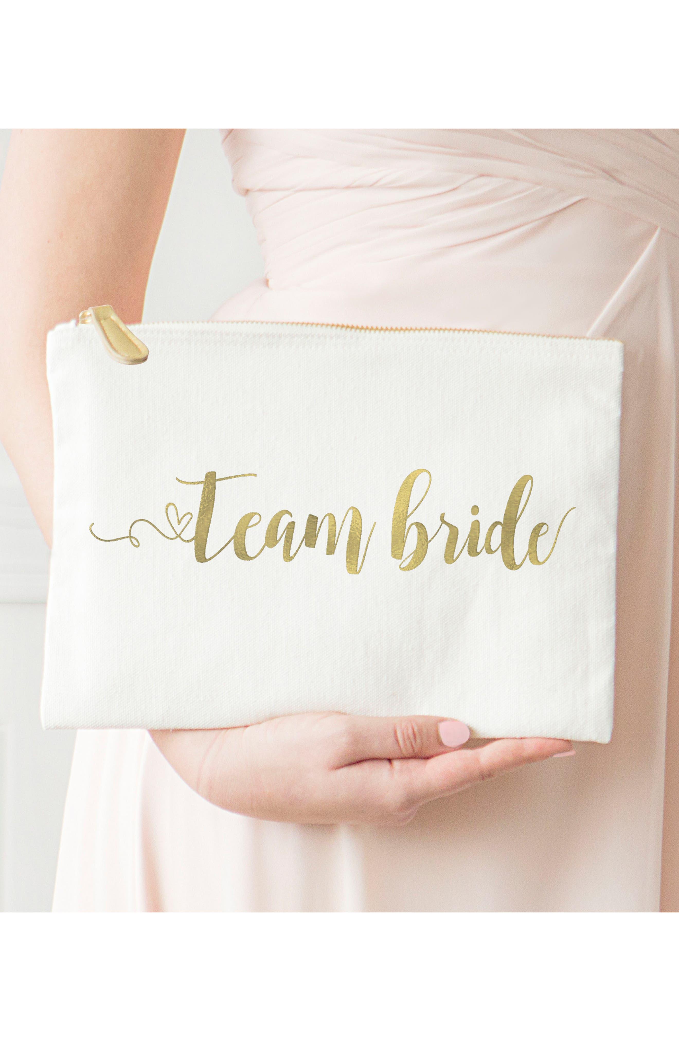 Alternate Image 6  - Cathy's Concepts Team Bride Canvas Pouch