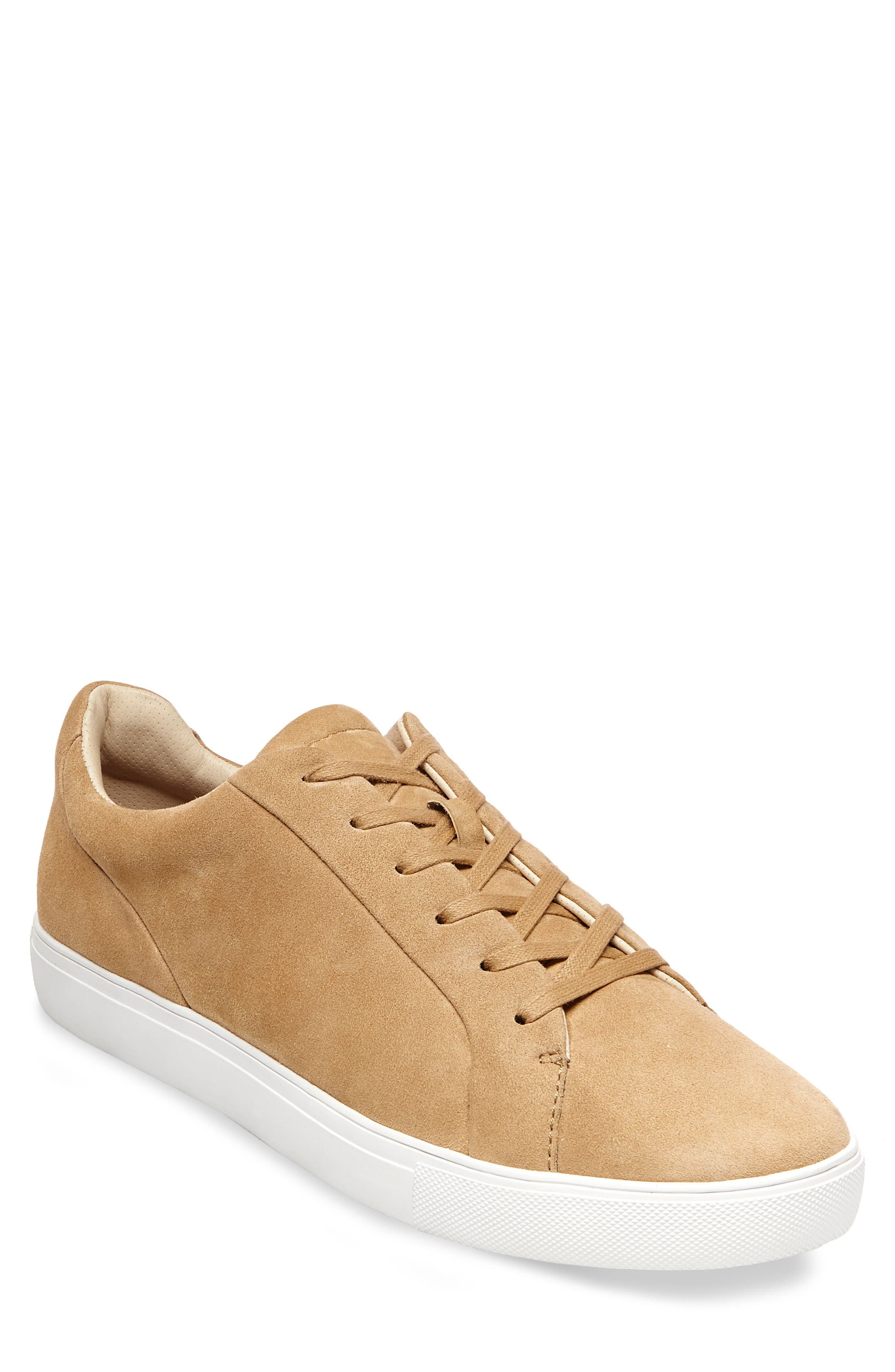 x GQ James Sneaker,                         Main,                         color, Tan Suede