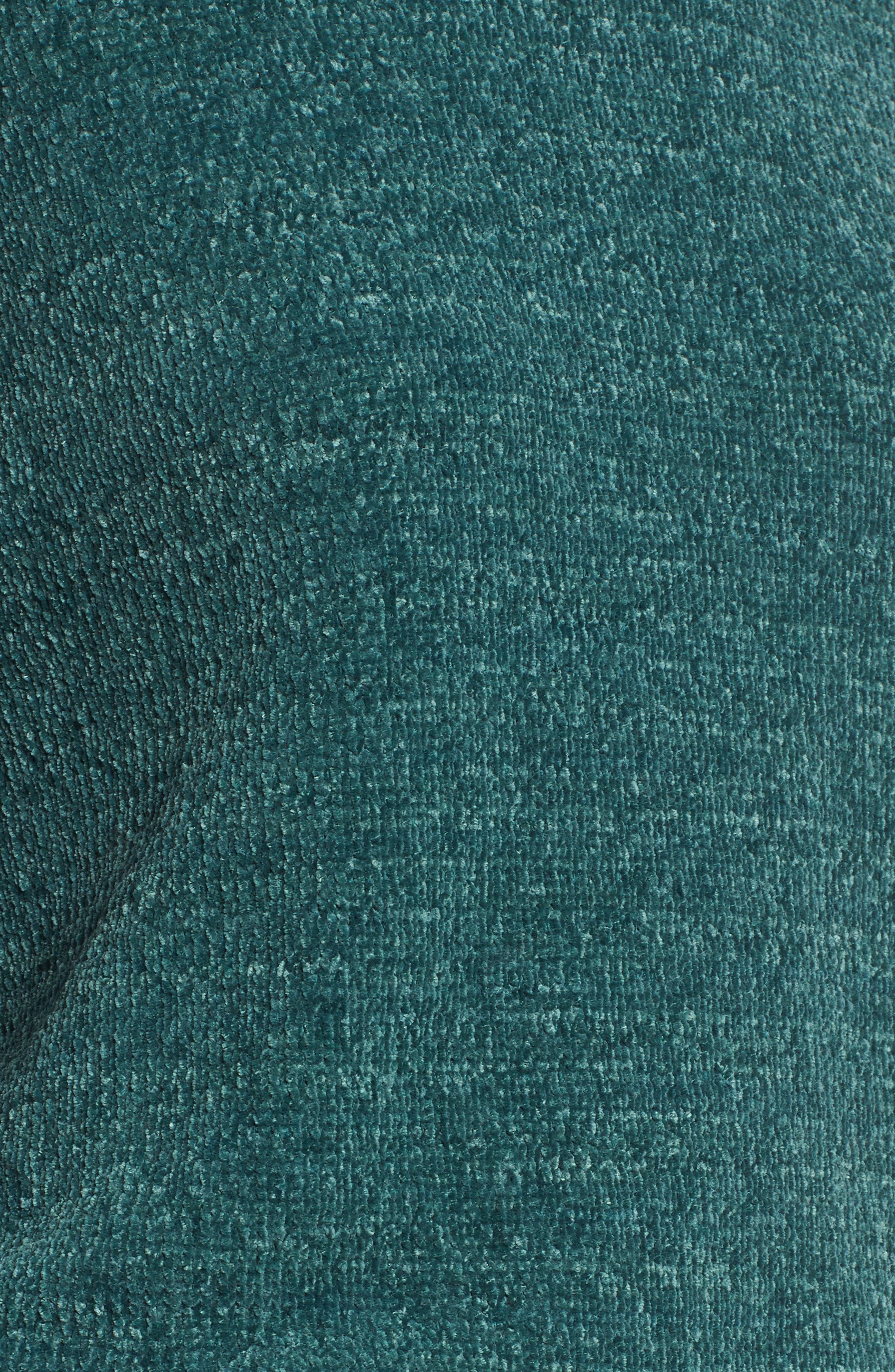 Ruffle Chenille Sweater,                             Alternate thumbnail 5, color,                             Green Jasper