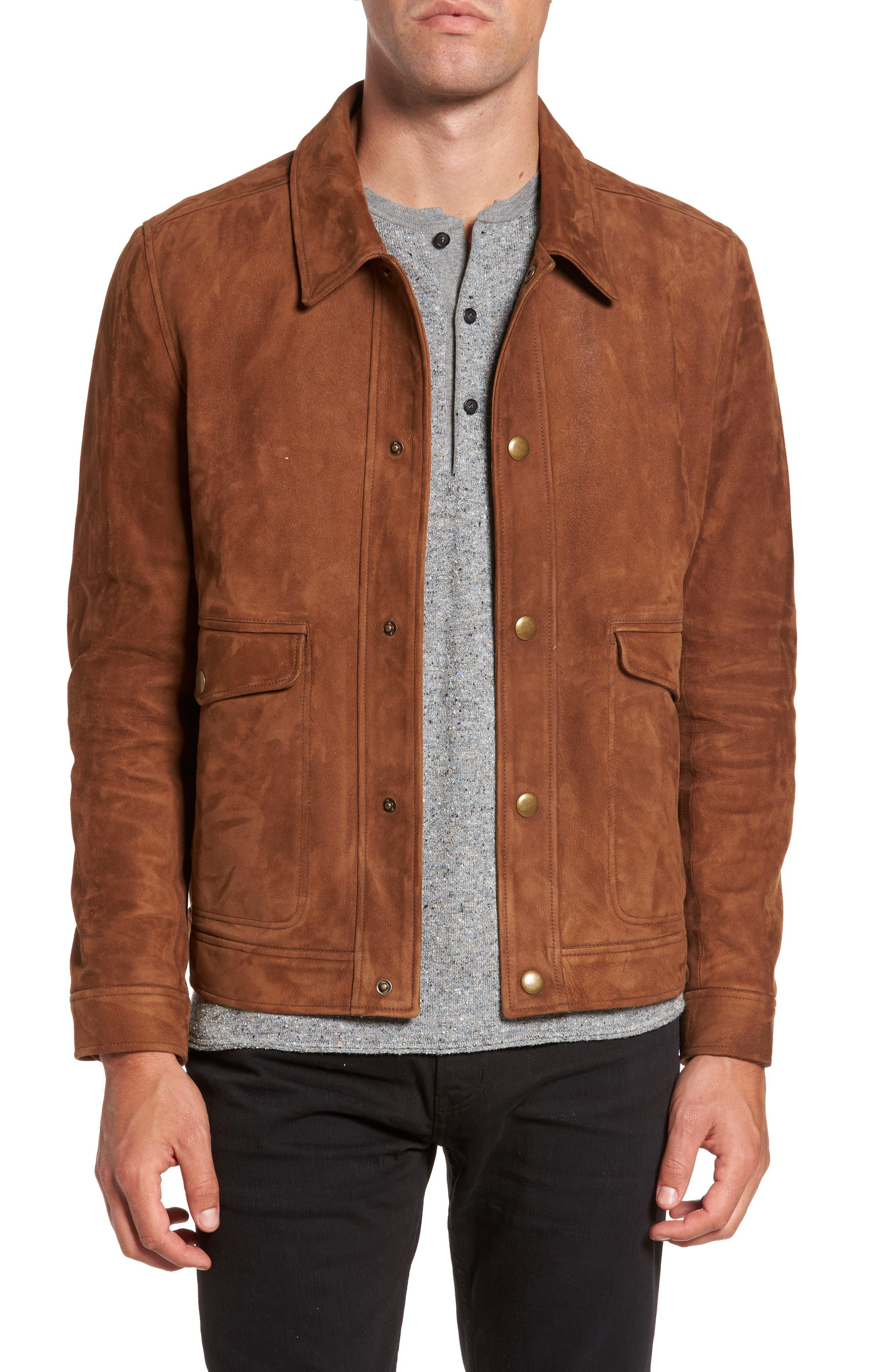 Billy Reid Duke Lambskin Leather Shirt Jacket