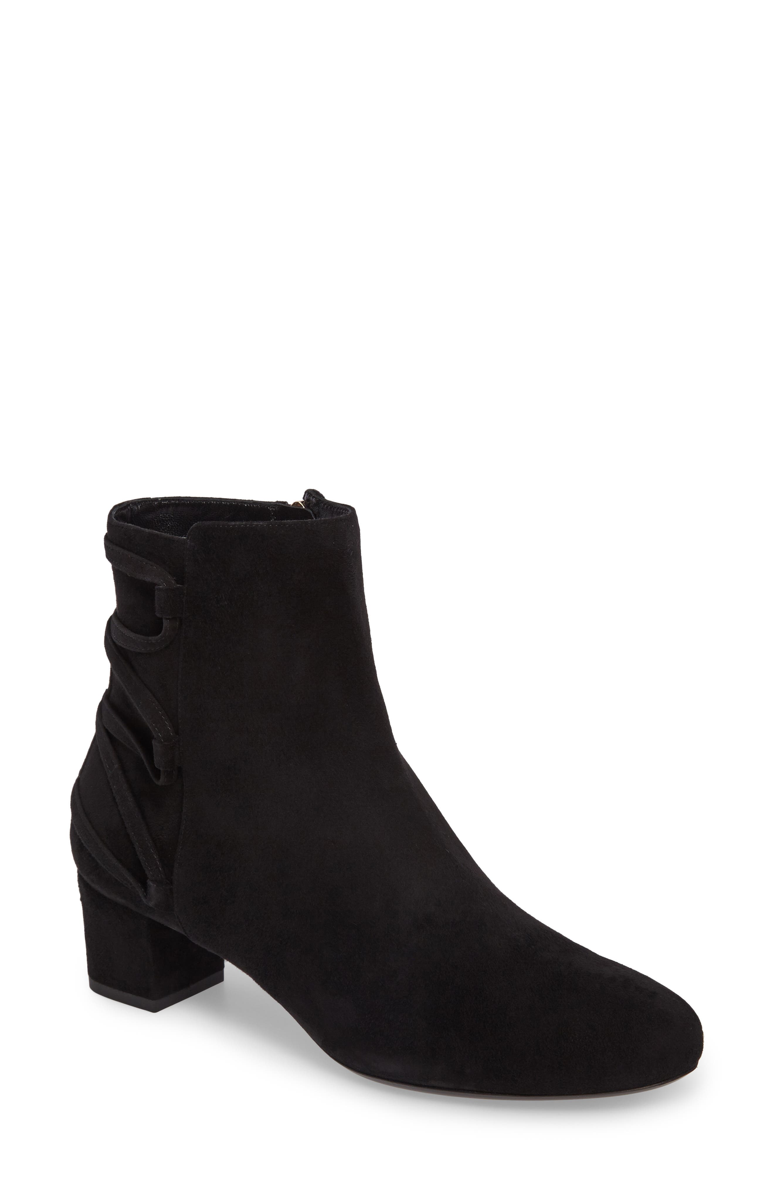 Lace-Up Bootie,                             Main thumbnail 1, color,                             Black