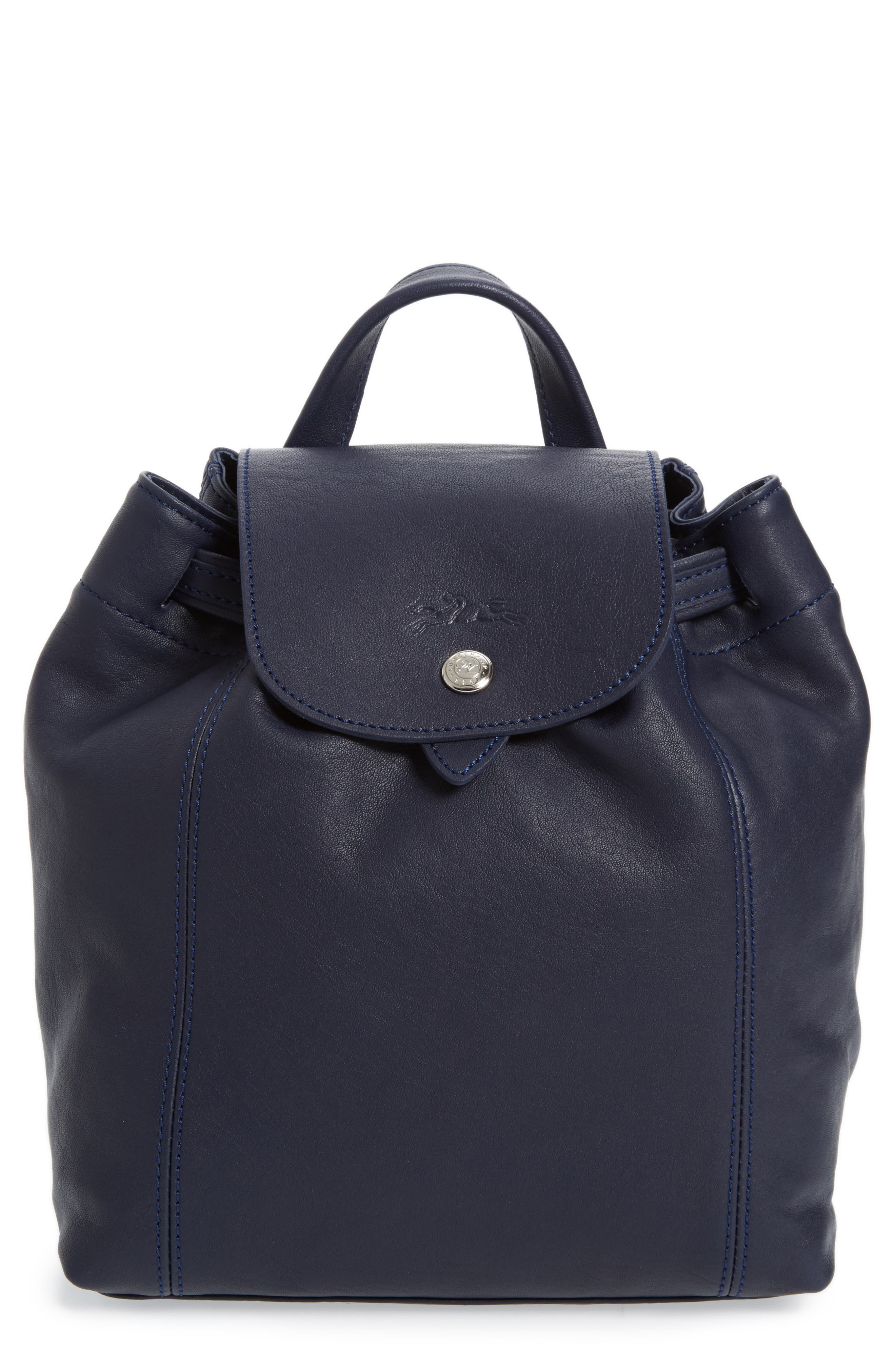 EXTRA SMALL LE PLIAGE CUIR BACKPACK - BLUE