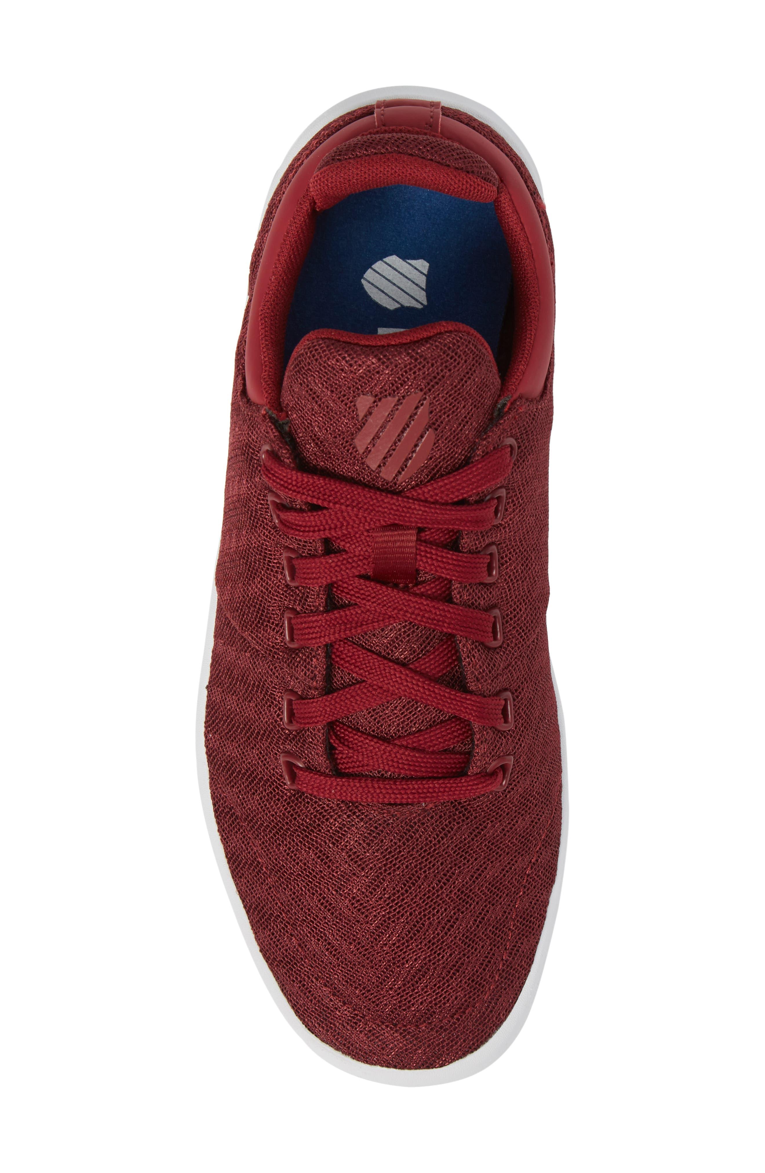 Aero Trainer T Sneaker,                             Alternate thumbnail 5, color,                             Tibetan Red/ White
