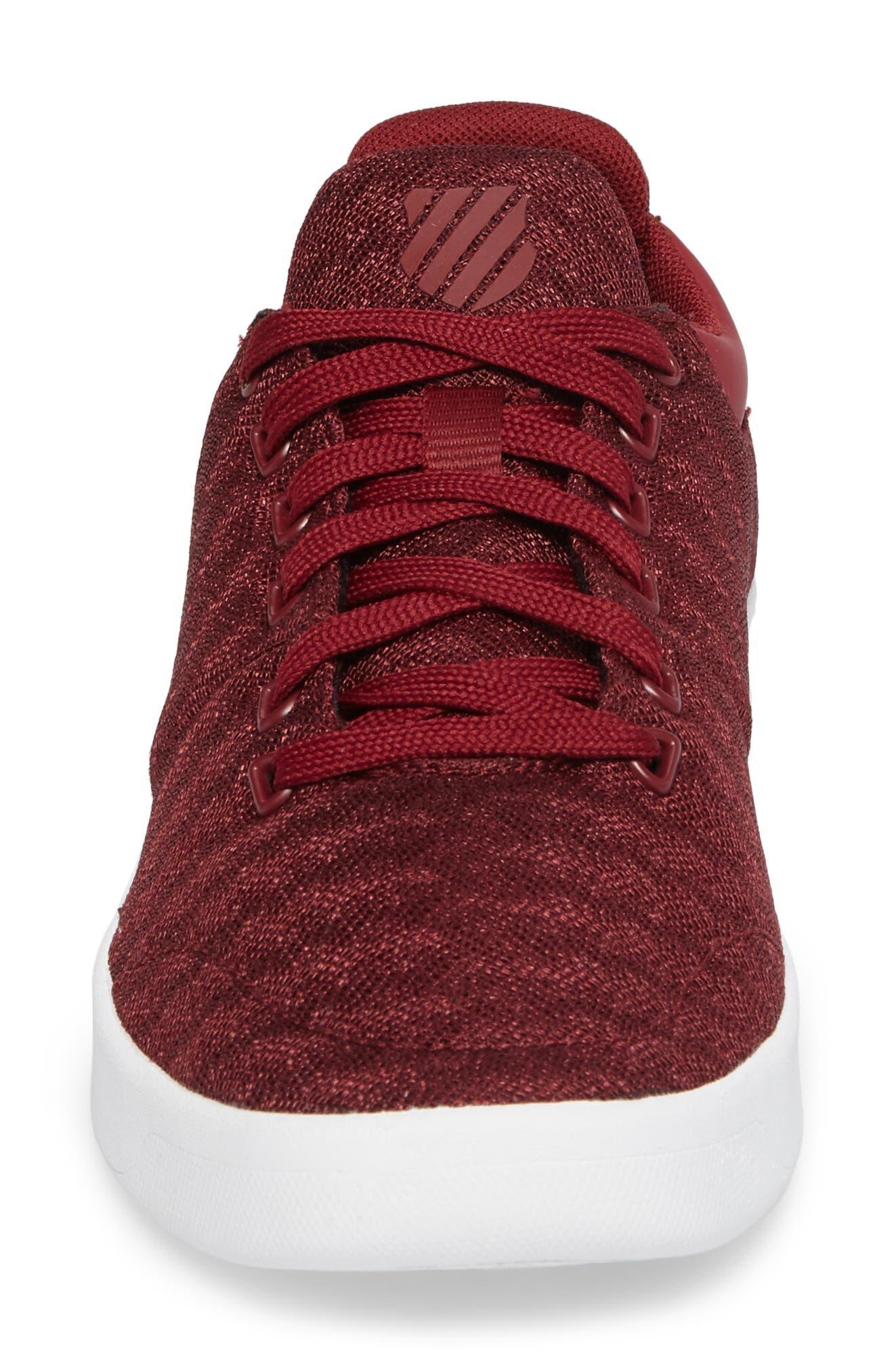 Aero Trainer T Sneaker,                             Alternate thumbnail 4, color,                             Tibetan Red/ White