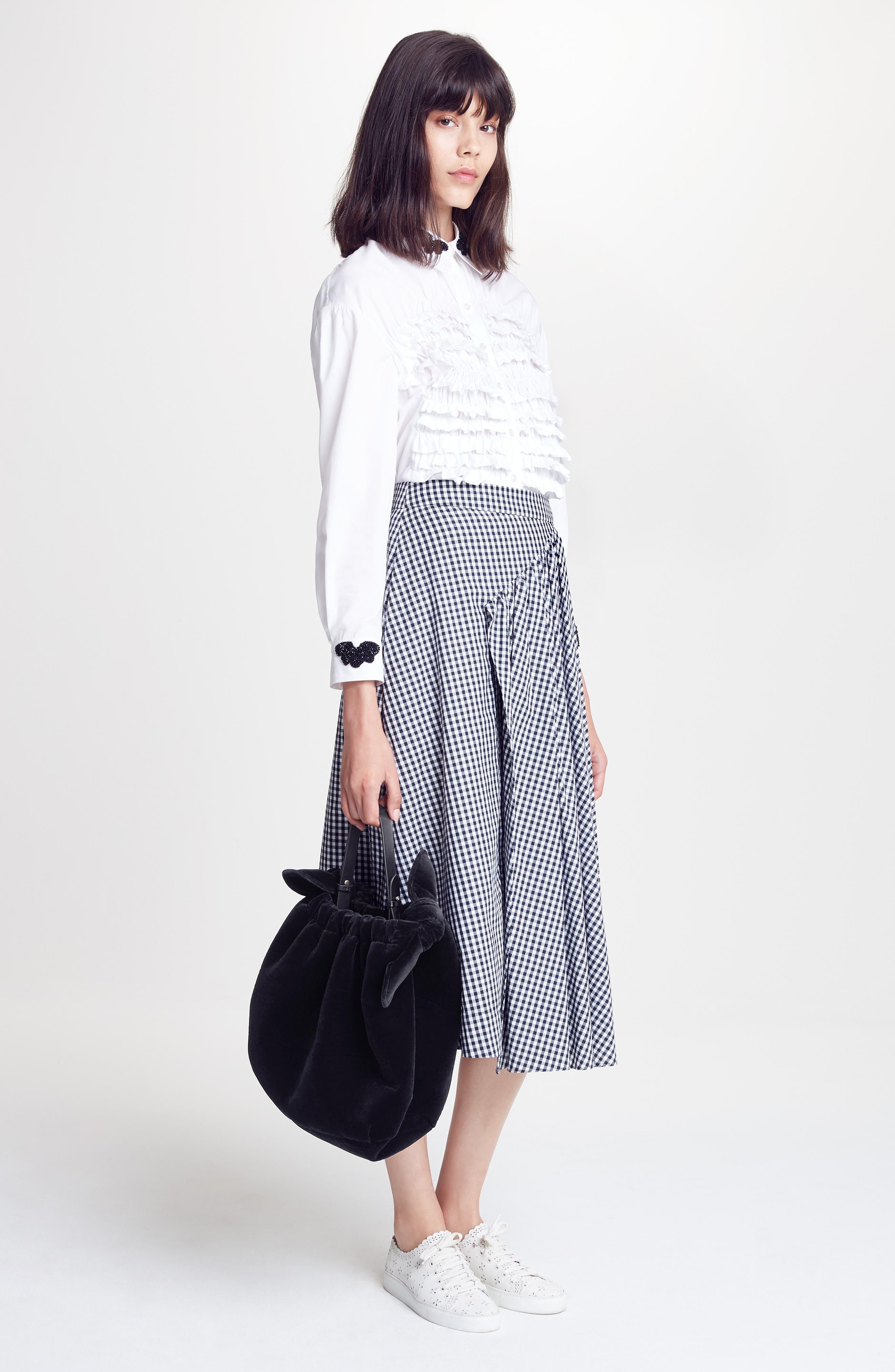 Alternate Image 2  - Simone Rocha Three-Panel Gingham Midi Skirt (Nordstrom Exclusive)