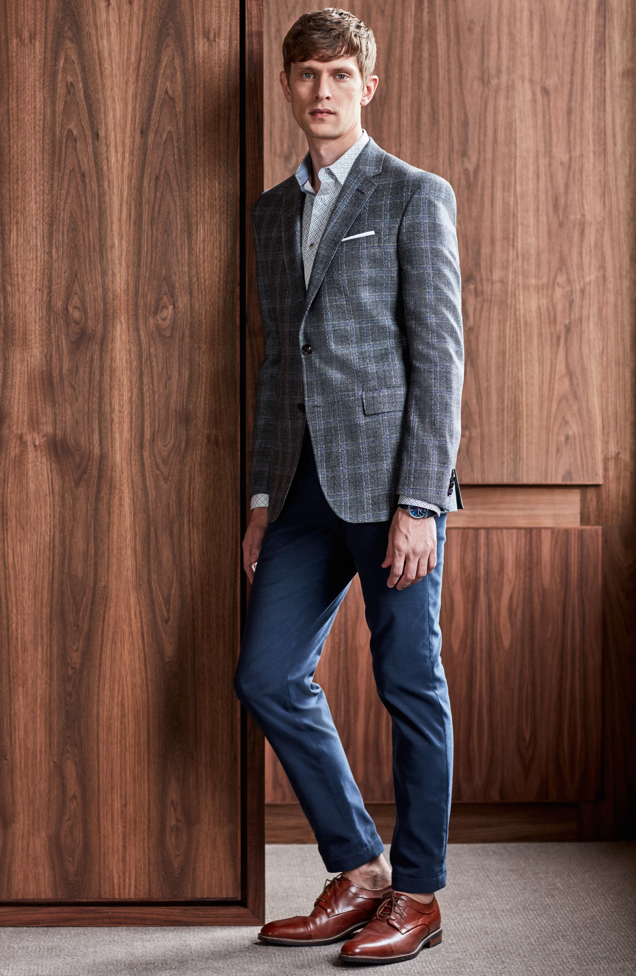 Alternate Image 9  - Ted Baker London Volvek Classic Fit Trousers