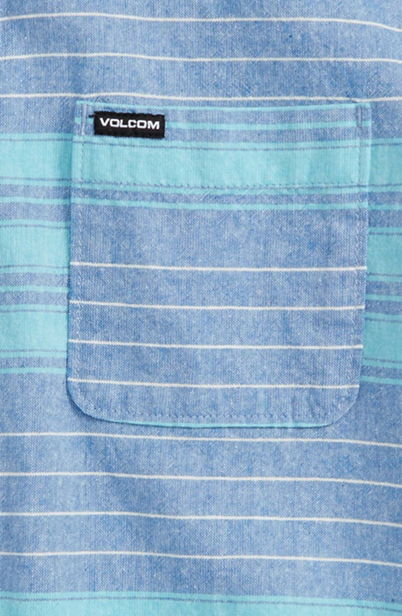 Meyer Stripe Woven Shirt,                             Alternate thumbnail 2, color,                             Dusty Aqua