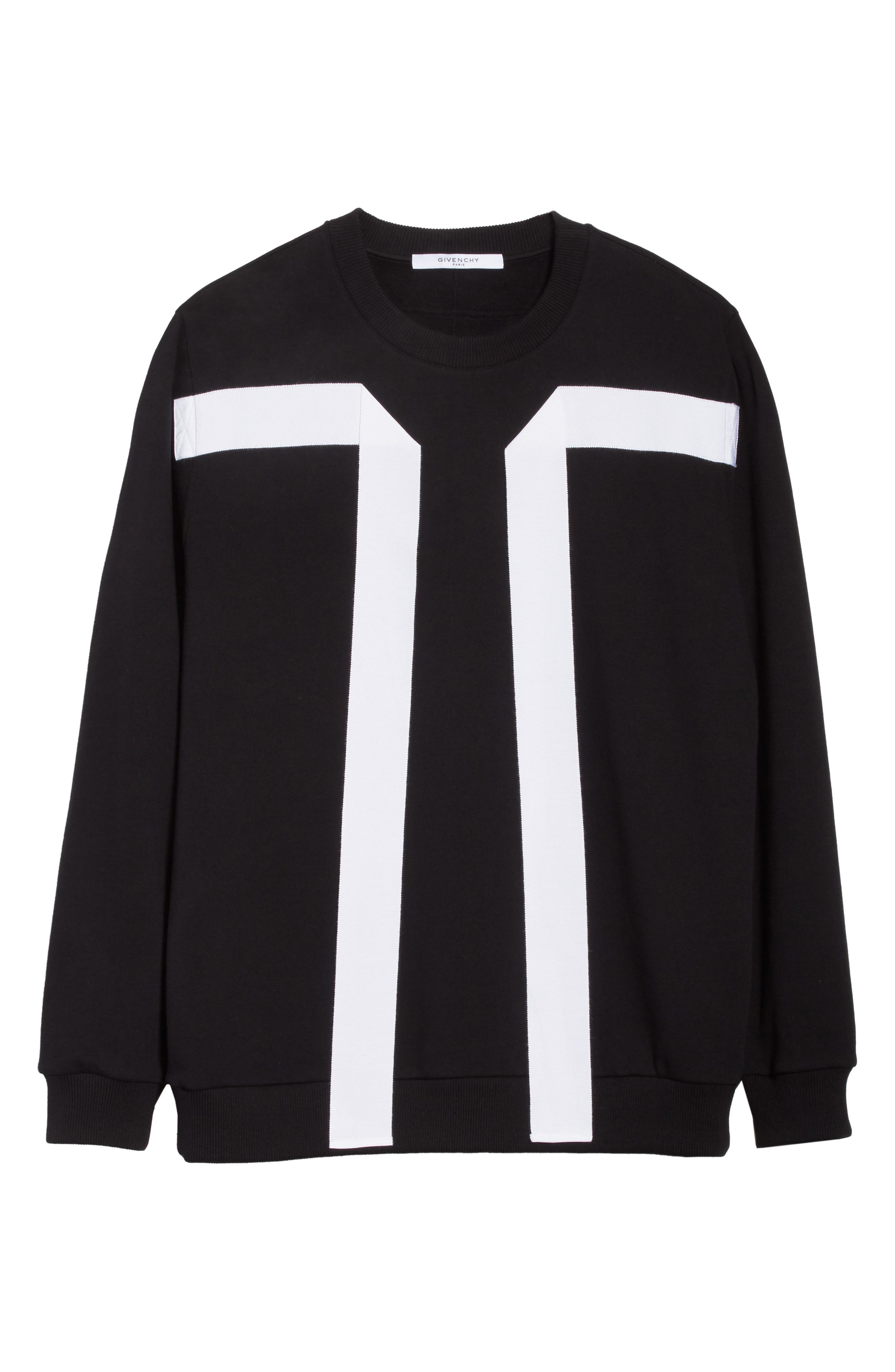 Flying Bands Crewneck Sweatshirt,                             Alternate thumbnail 6, color,                             Black