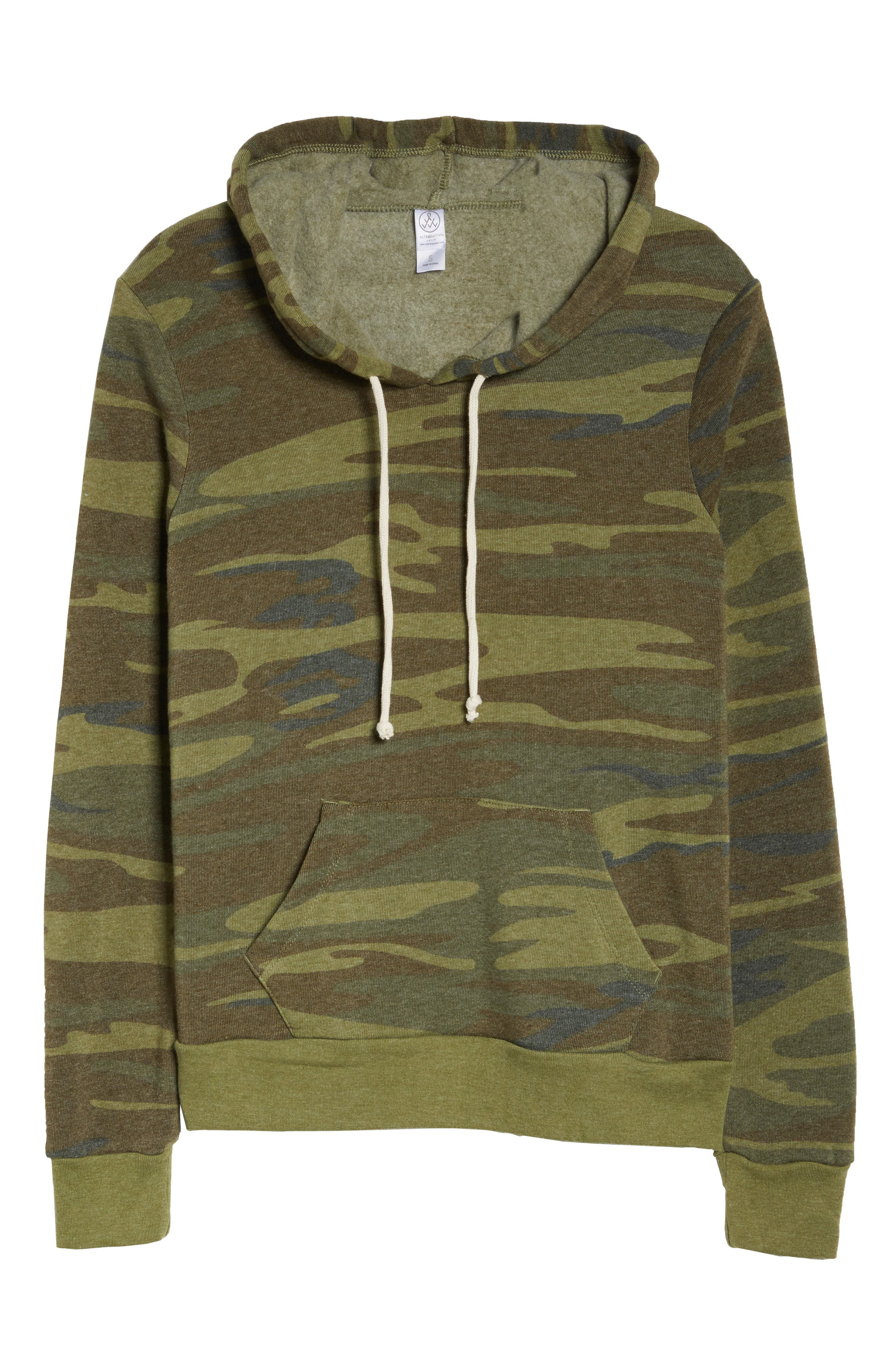 Camo Pullover Hoodie,                             Alternate thumbnail 4, color,                             Camo