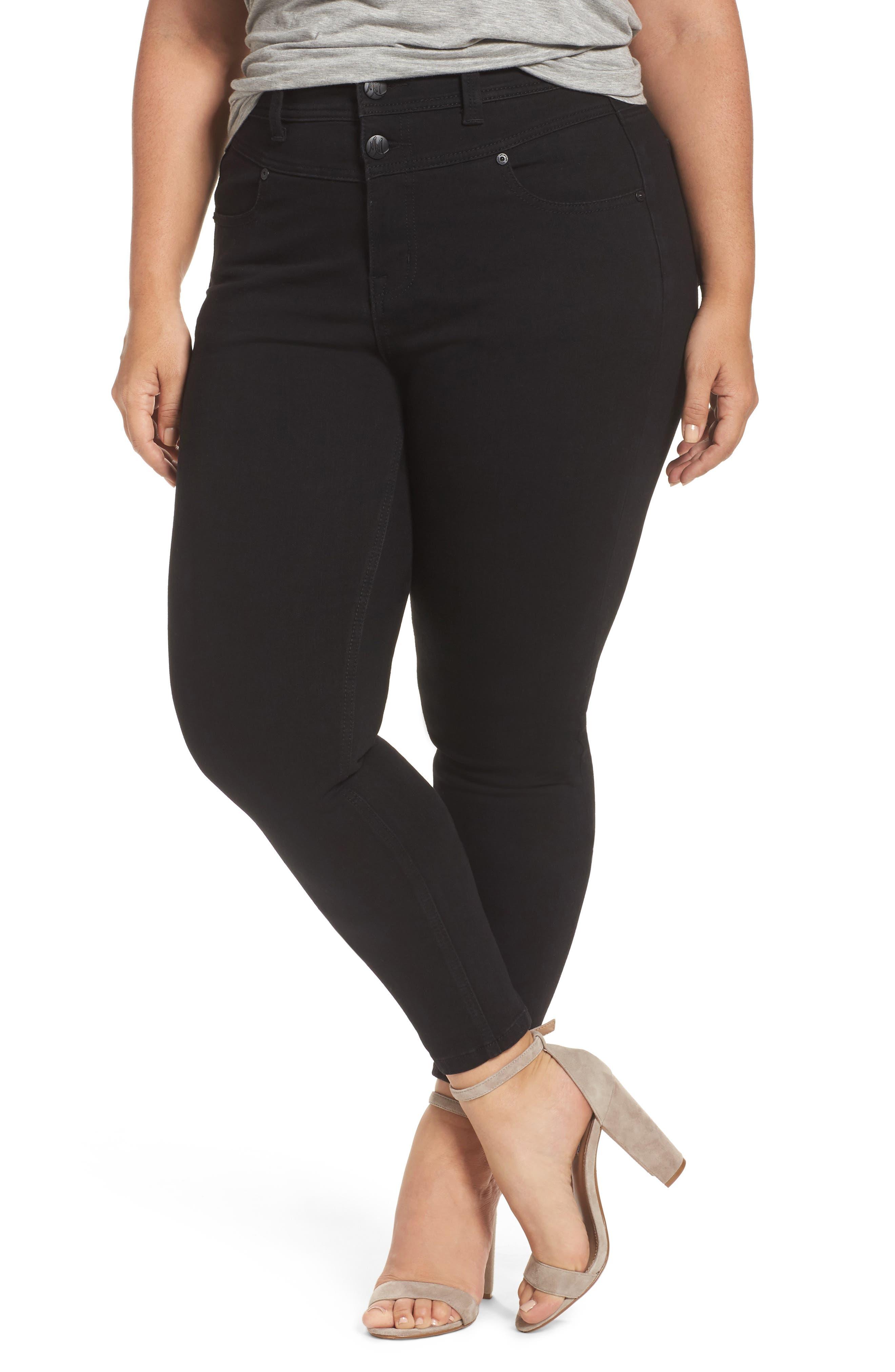 Melissa McCarthy High Rise Front Yoke Pencil Jeans (Plus Size)
