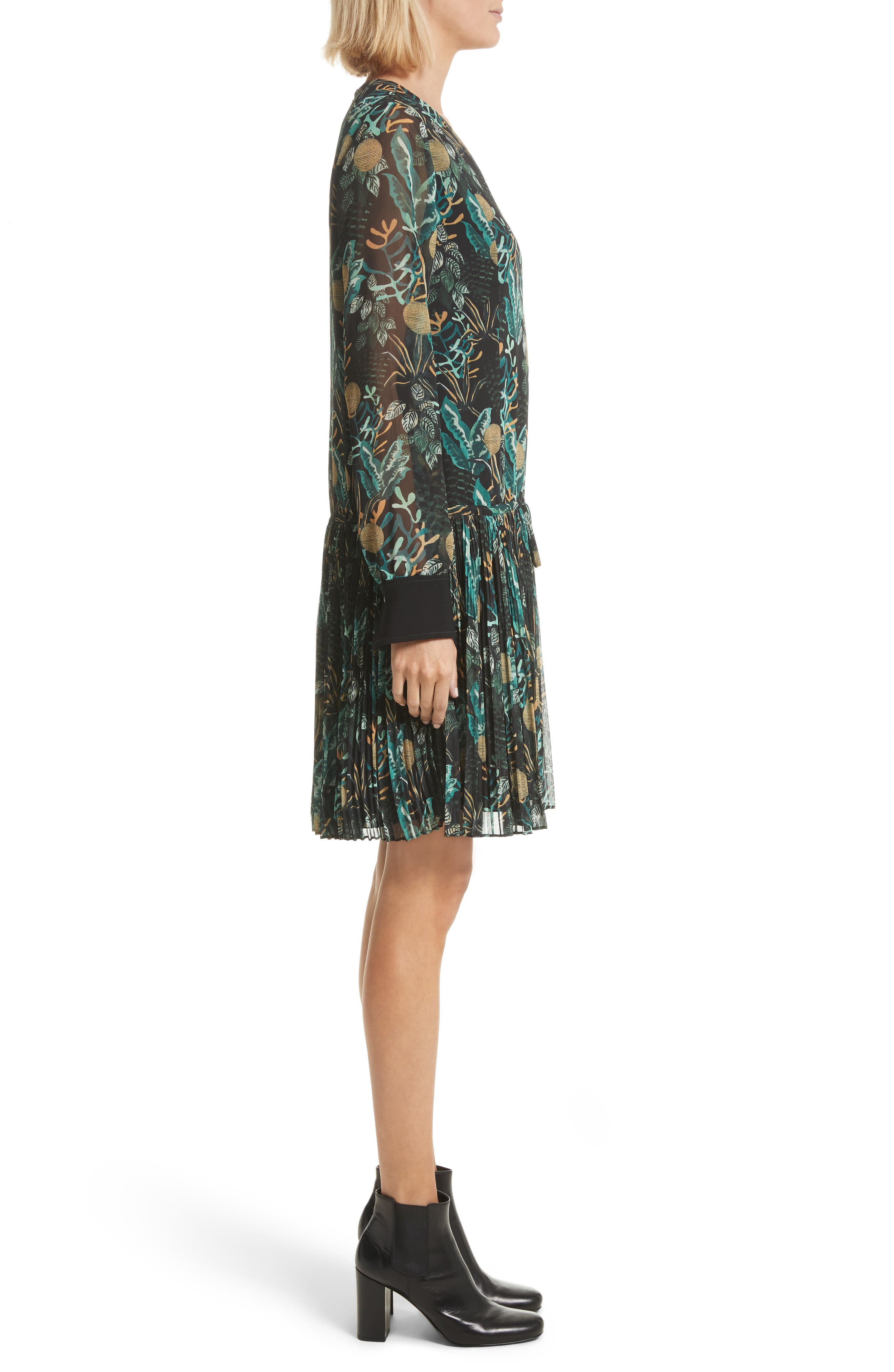 Alternate Image 3  - GREY Jason Wu Print Drop Waist Drawstring Dress