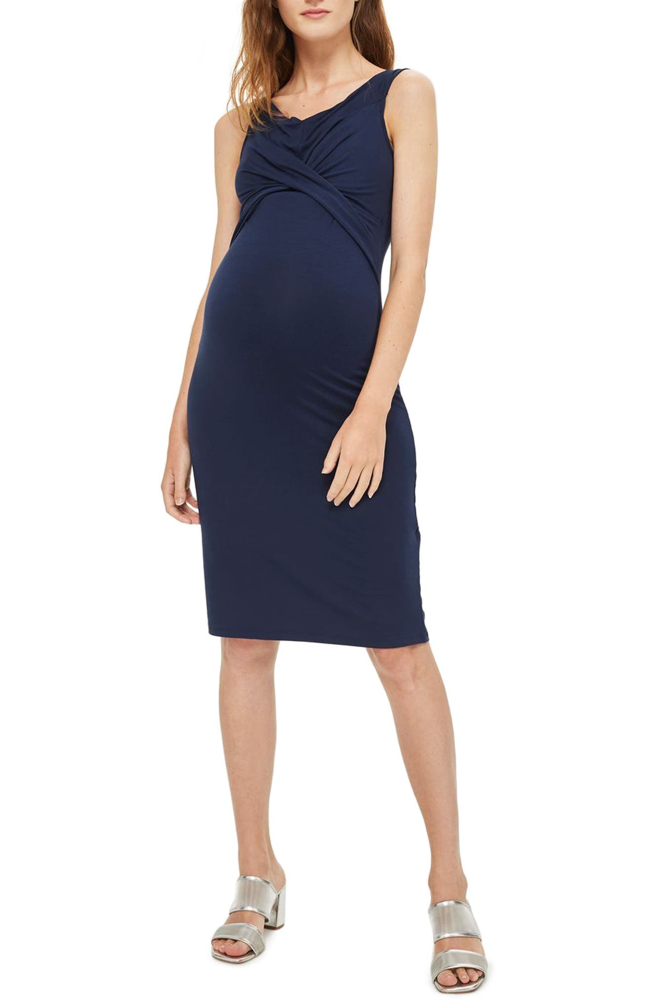 Topshop Convertible Off the Shoulder Maternity/Nursing Dress