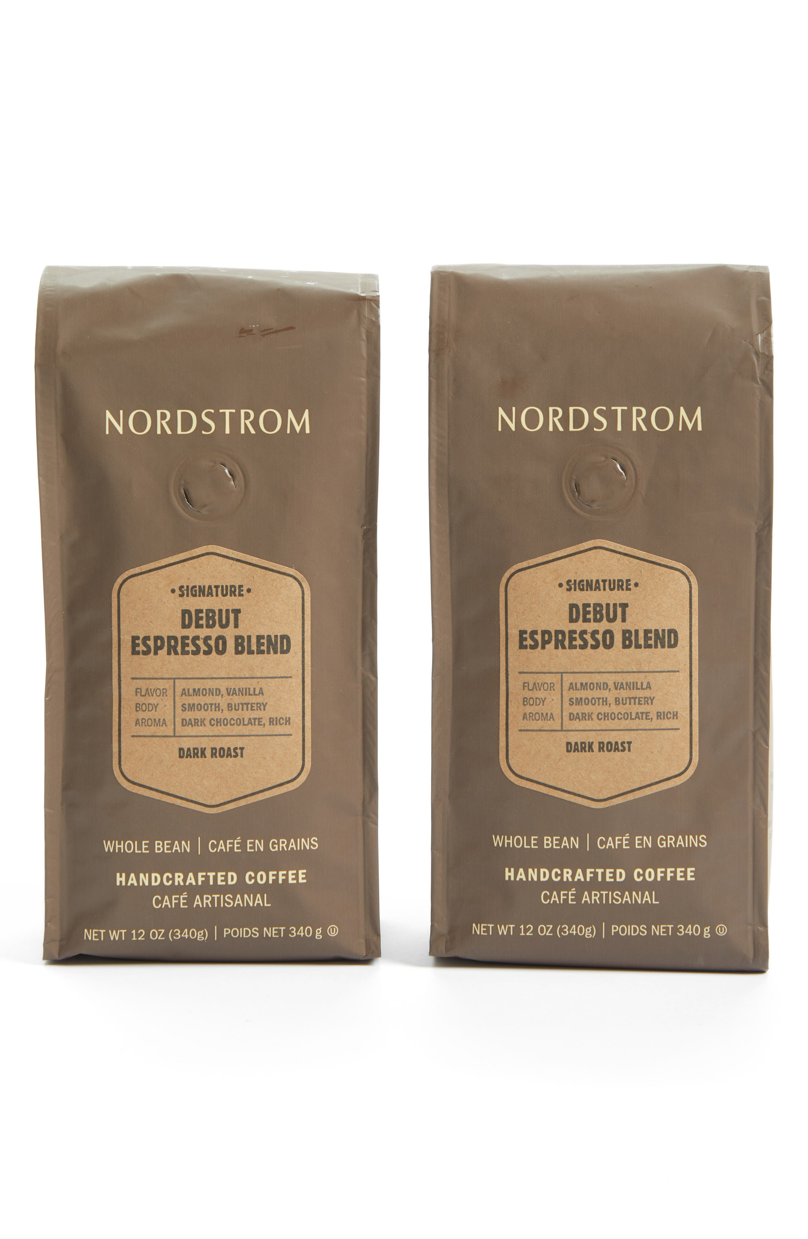 Main Image - Nordstrom Coffee 'Debut Espresso Blend' Whole Bean Coffee (2-Pack)